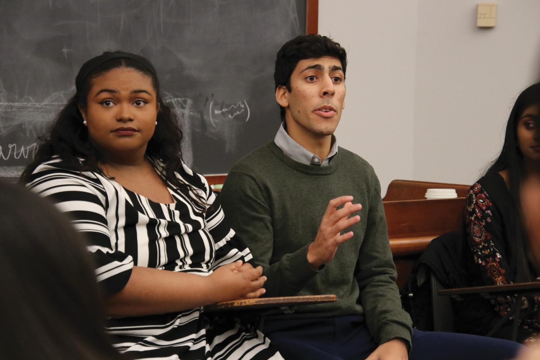 Undergraduate Council Presidential Candidates Daniel K. Ragheb '20 and Samyra C. Miller '21
