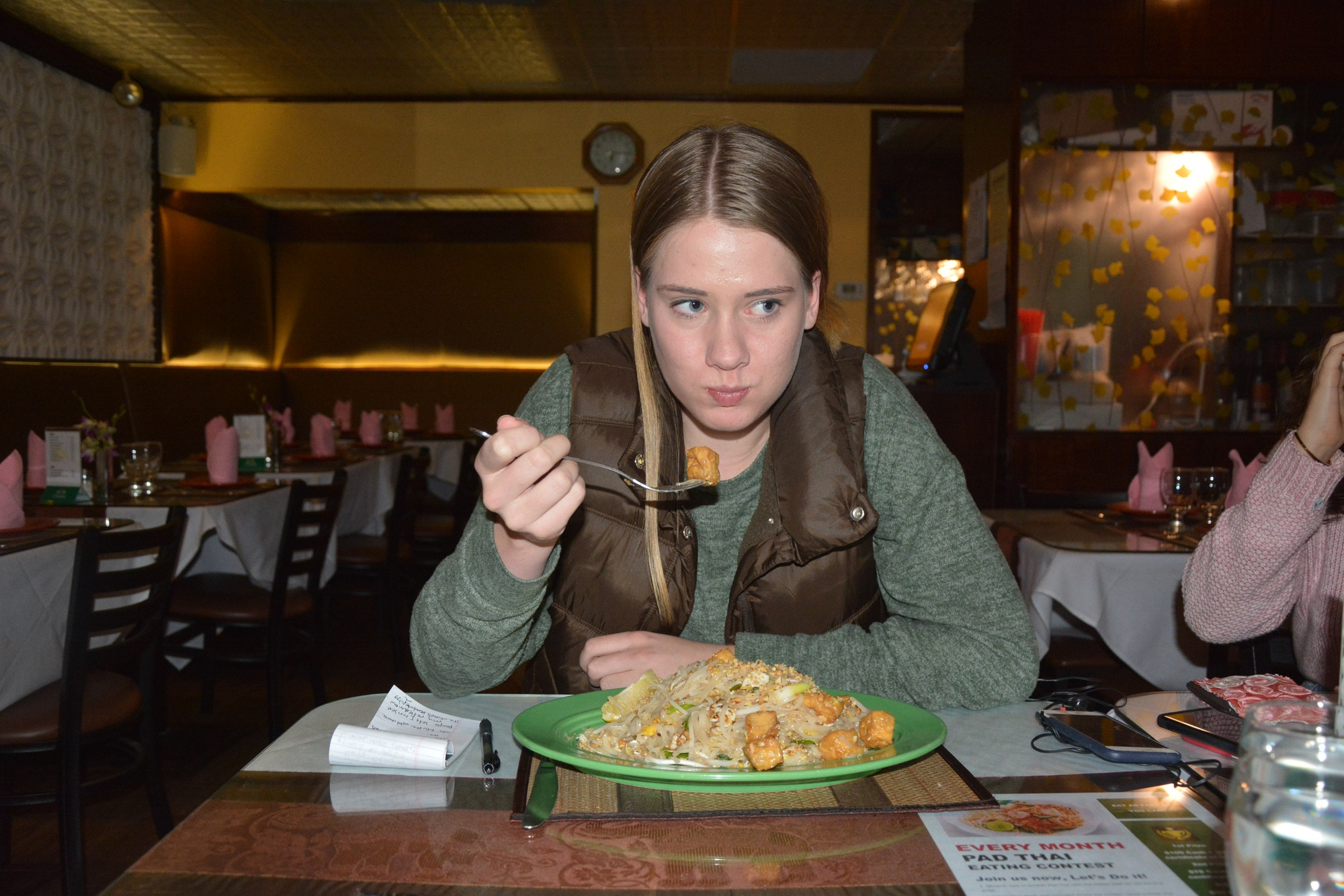 Contributing writer Trina M. Lilja '22 regrets her decision to take on the pad Thai challenge.