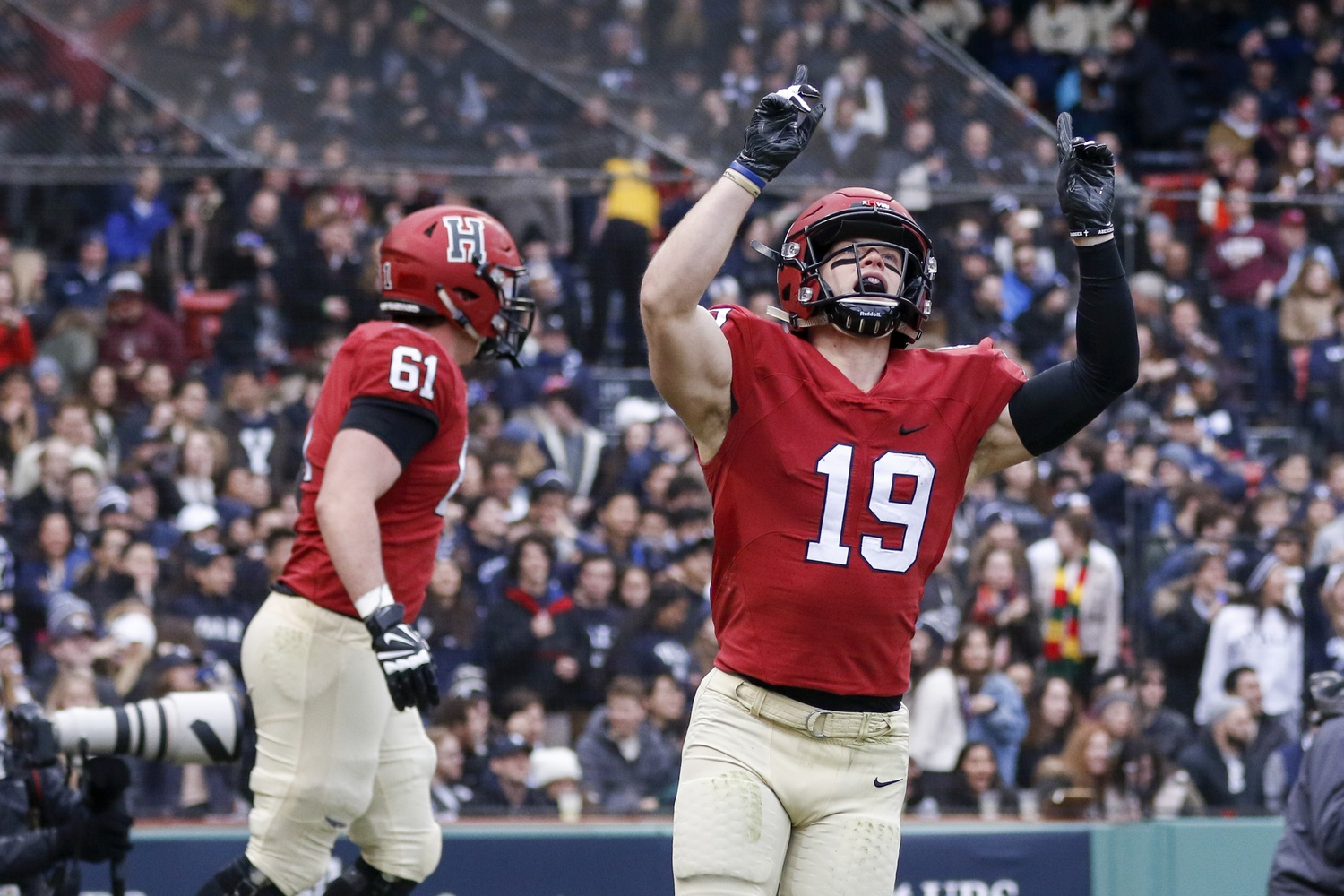 reputable site c8285 d0f6d Harvard Beats Yale in 135th Game, 45-27 | Sports | The ...