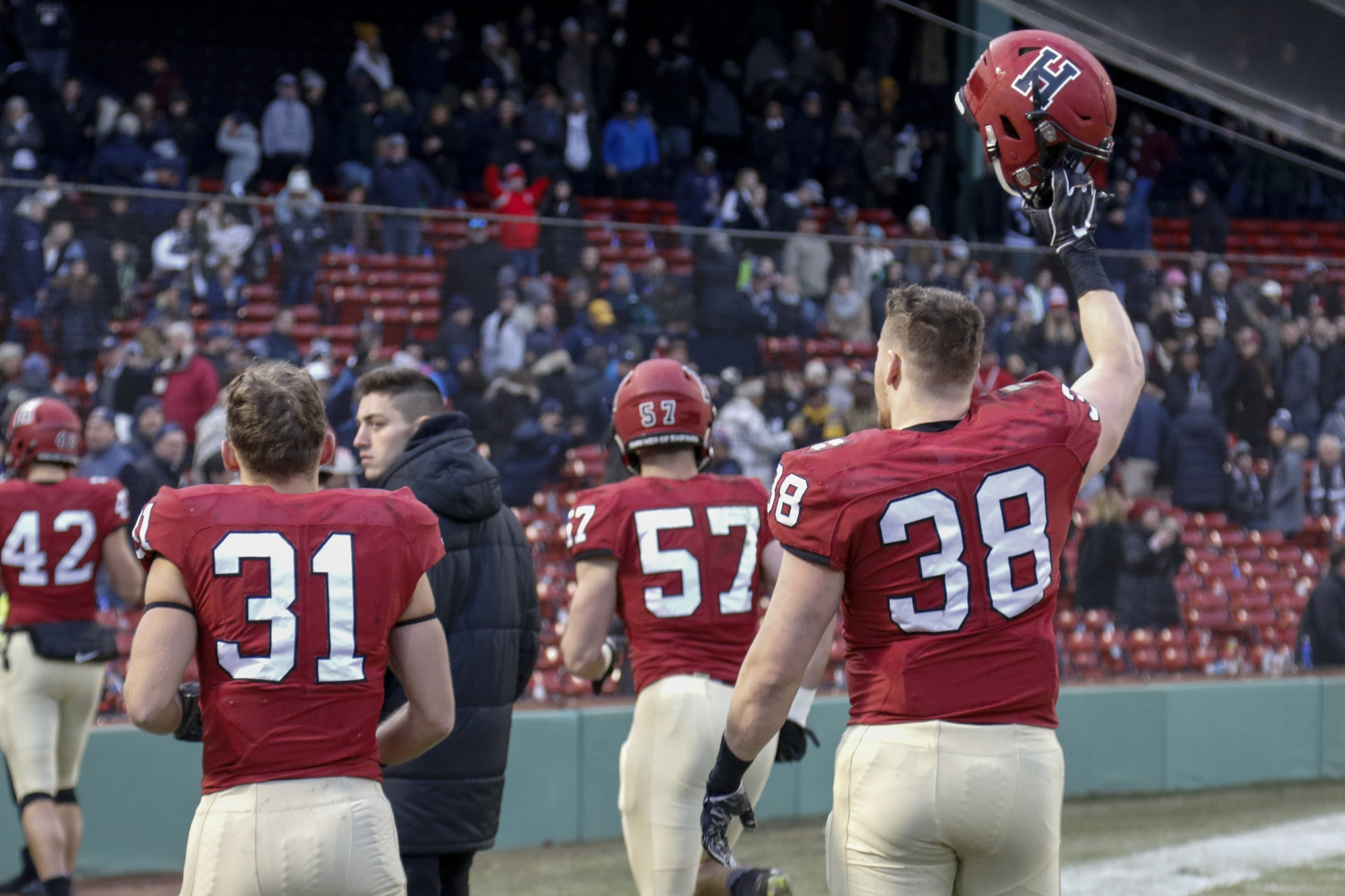 At the end of his final game in a Harvard uniform, senior defensive lineman Alex White saluted the crowd.