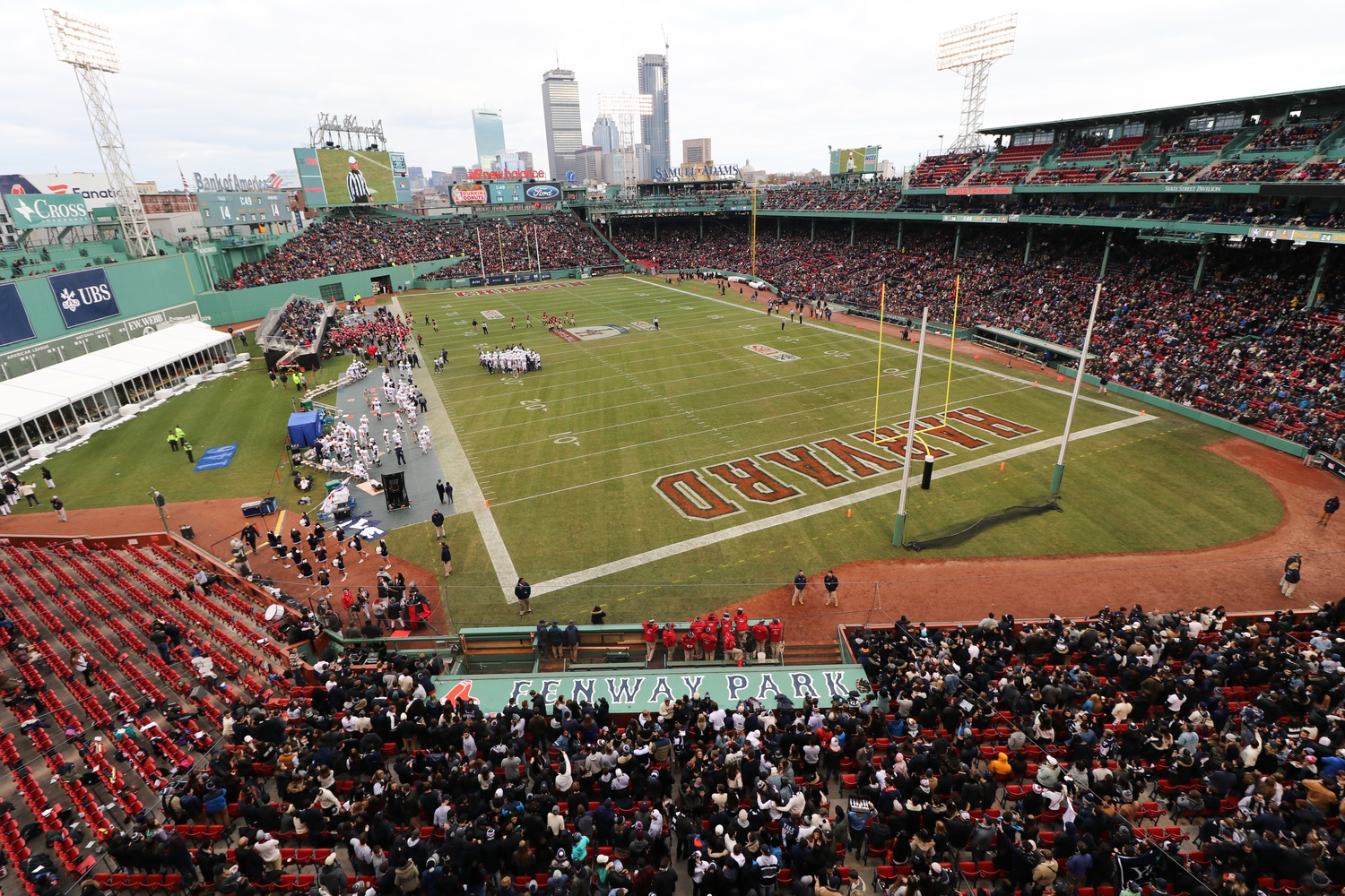 The annual Harvard-Yale football game took place at Fenway Park for the first time in school history Saturday.