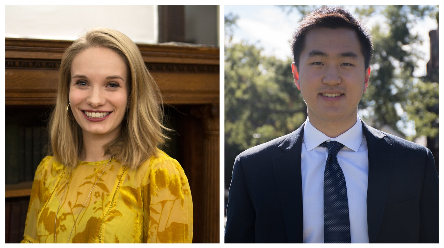 Two Harvard seniors — Brittany N. Ellis '19 (left) and Jin K. Park '18-'19 — have won the prestigious Rhodes scholarship.
