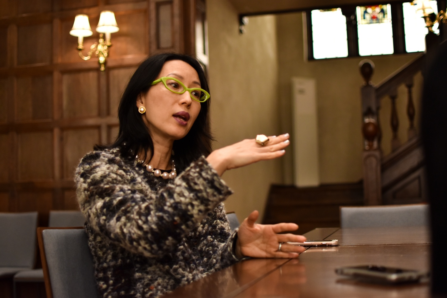 Soyoung Lee, the new chief curator of the Harvard Art Museums,  speaks during an interview earlier this month.