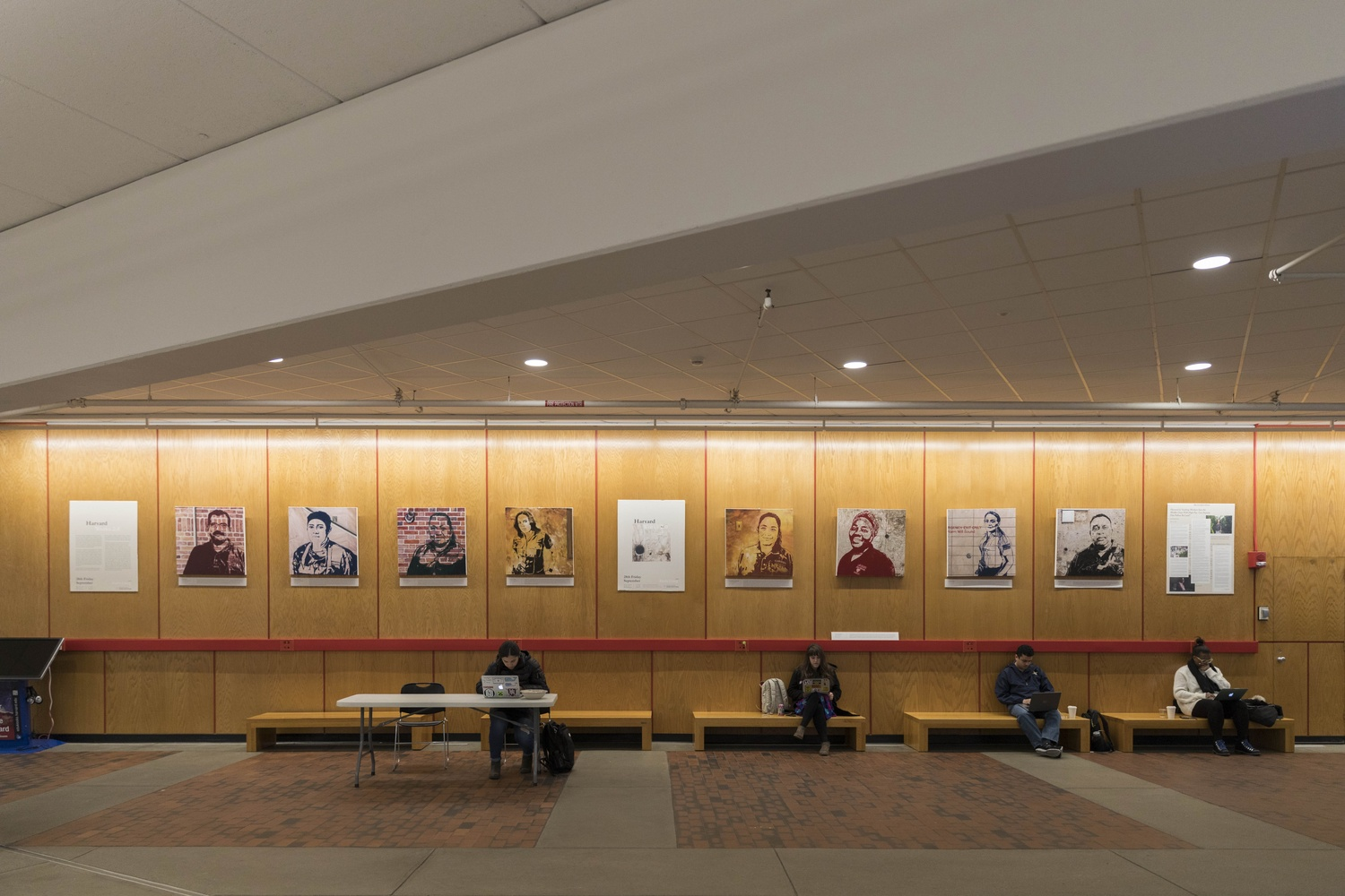 "Painted by Annie J. Liang, a former Harvard Graduate School of Design student, ""Harvard Works 2.0"" is a portrait series located in the Science Center about University workers."
