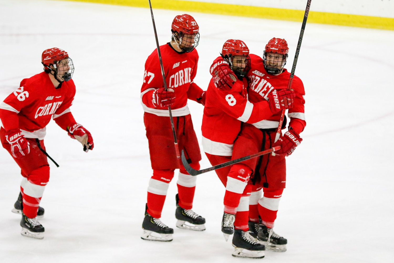 No. 16 Cornell dominated the second period en route to avenging Harvard's win one week prior. The teams will also meet at the Big Red's Lynah Rink in January.