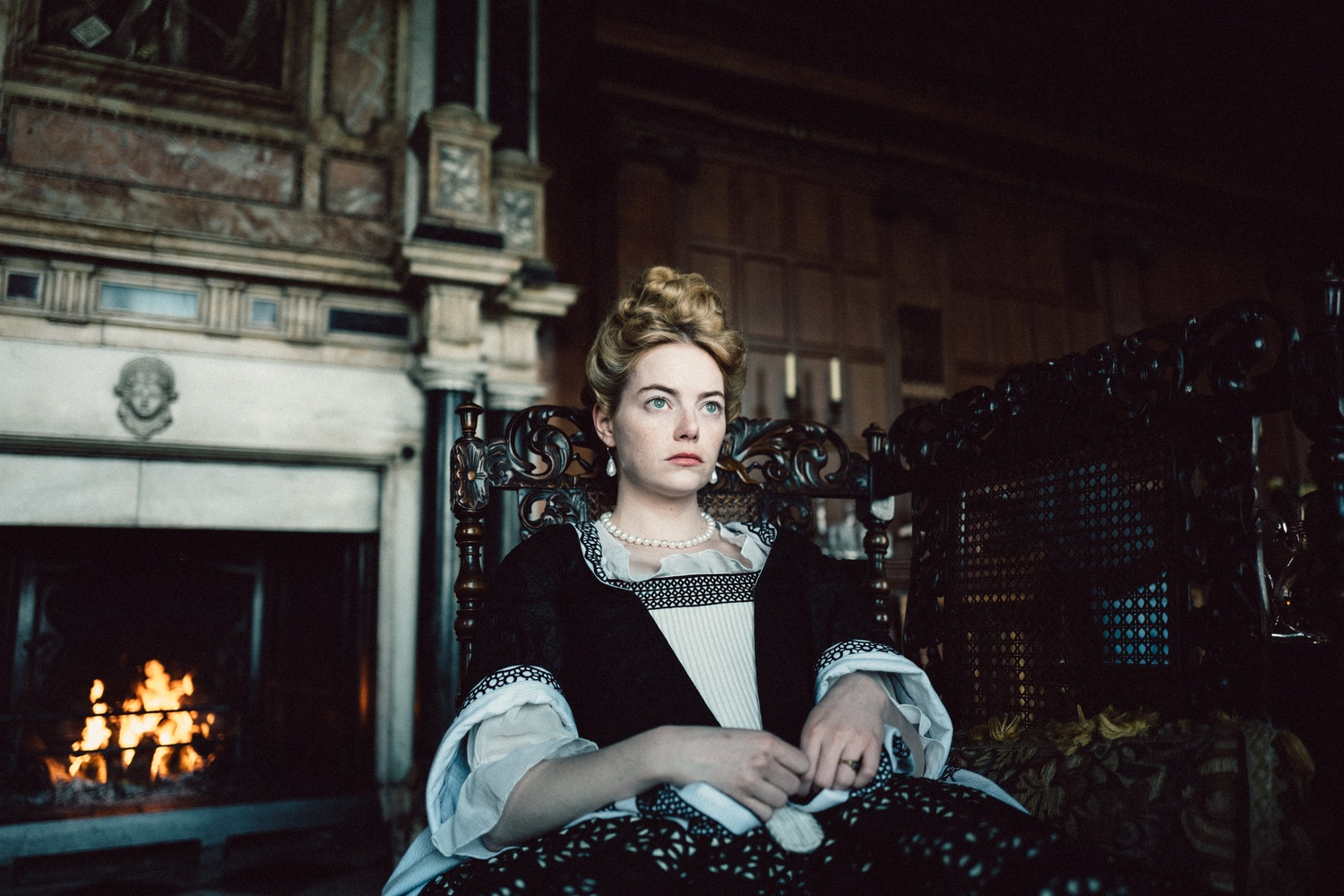 "Emma Stone stars in ""The Favourite"" (2018), directed by Yorgos Lanthimos."