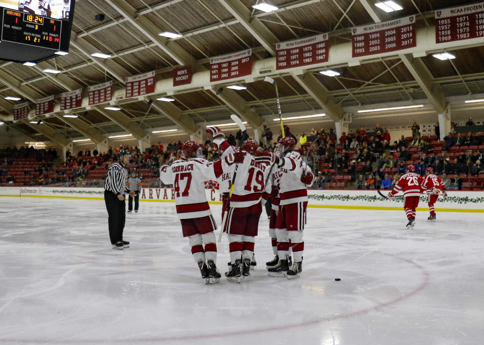 The Crimson powerplay executed again on Tuesday night, maintaining its scorching 36 percent effectiveness through Harvard's first 13 contests.
