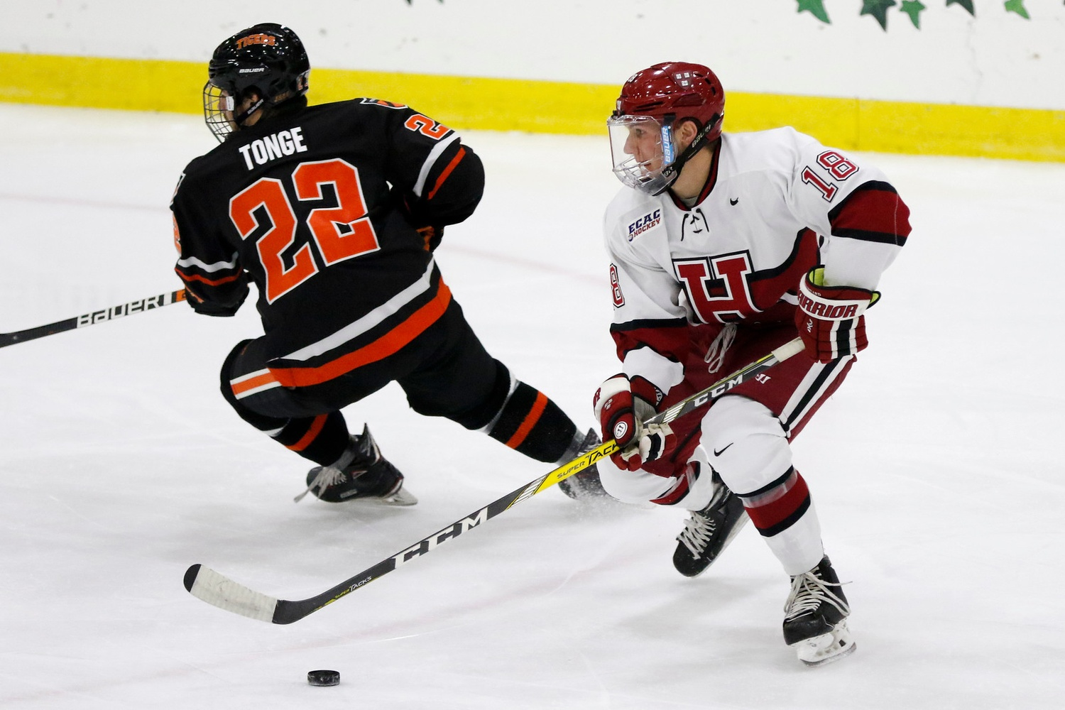 Junior defenseman Adam Fox quarterbacks the Harvard powerplay, which leads the nation in execution rate.