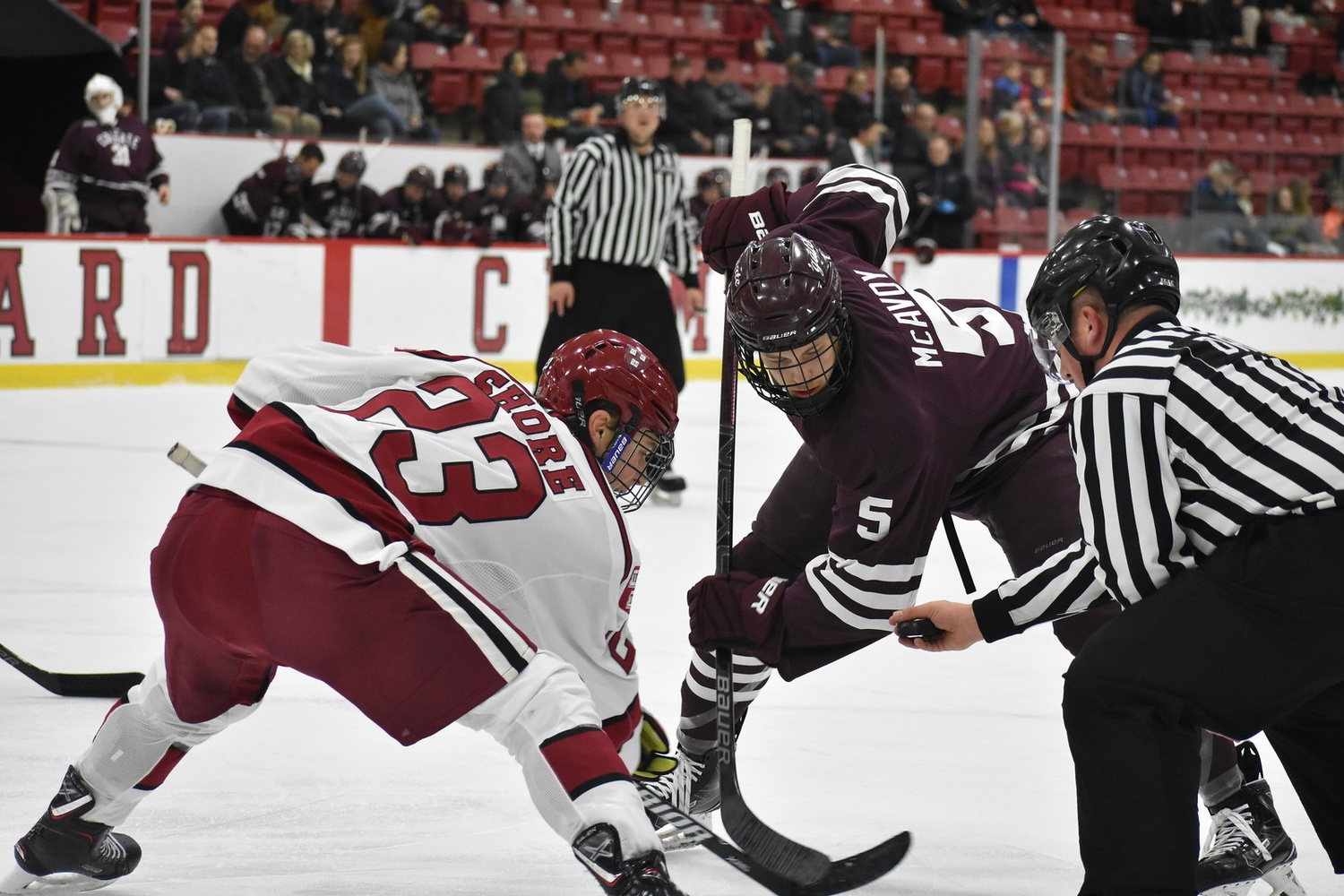 The Crimson completed a season sweep of the Raiders on Saturday afternoon after dropping both contests to Colgate in 2017-2018.