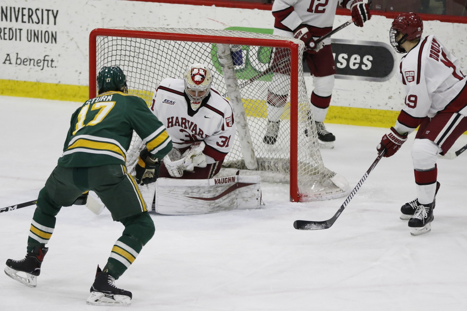 Nico Sturm has proven to be a thorn in the Crimson's side before. This time, however, Badini's goal cancelled out Sturm's before the first period had ended.