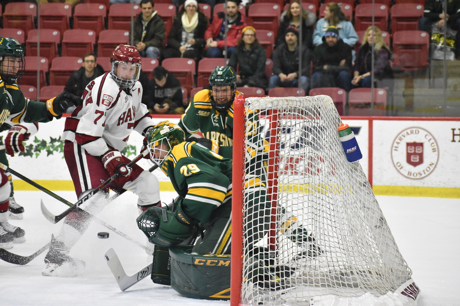Clarkson net-minder Jake Kielly faced 41 shots in 62 minutes of play, turning away 37 of them.