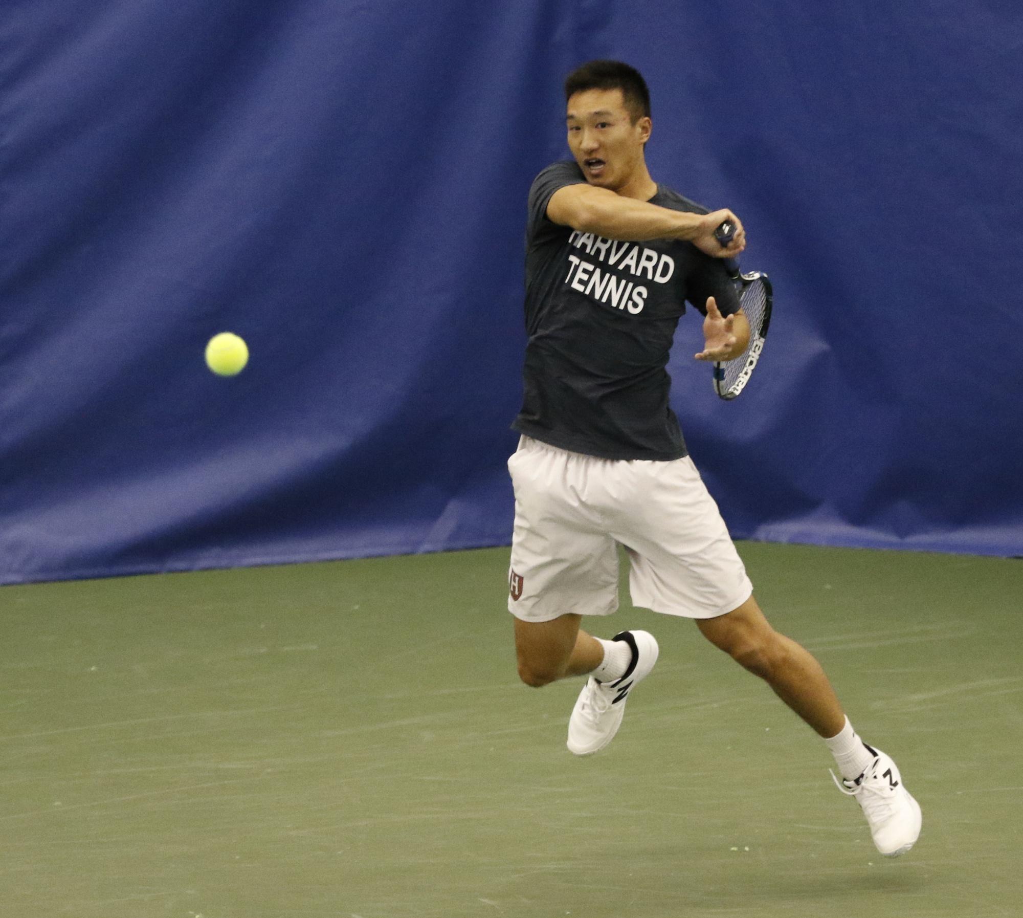 Senior Andy Zhou is a co-captain on the men's side, alongside classmate Christopher Morrow.