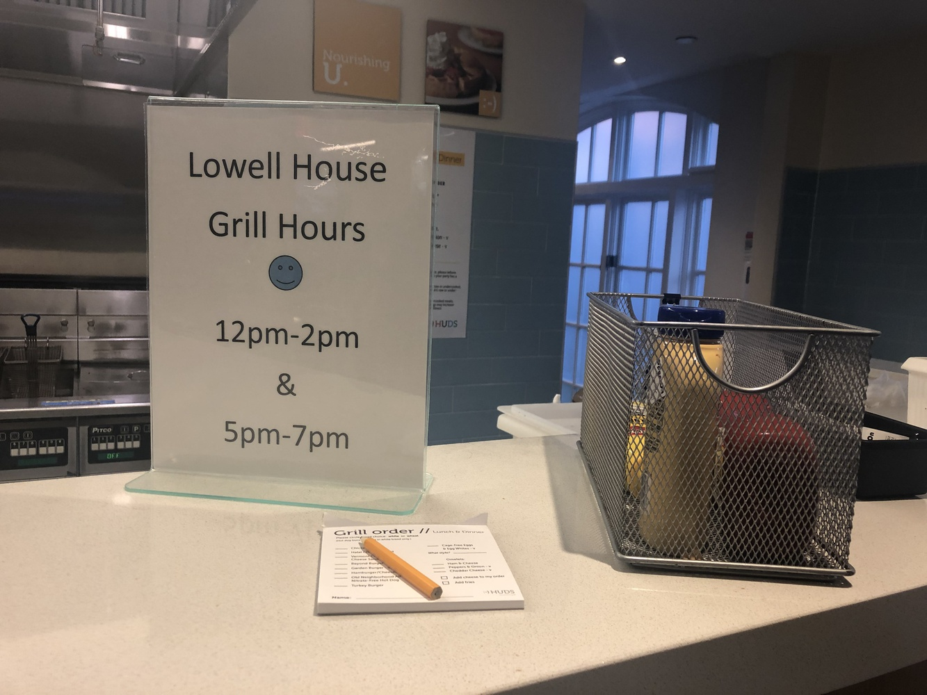 The Lowell Grill Ordering Setup
