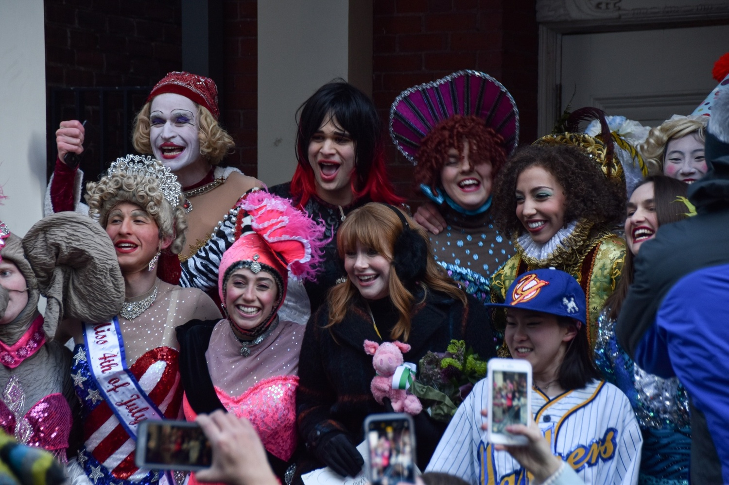 The Hasty Pudding named actor Bryce Dallas Howard as their 68th Woman of the Year. Howard paraded down Massachusetts Avenue Thursday alongside the Pudding's first mixed-gender cast since it began putting on an annual production in 1844.