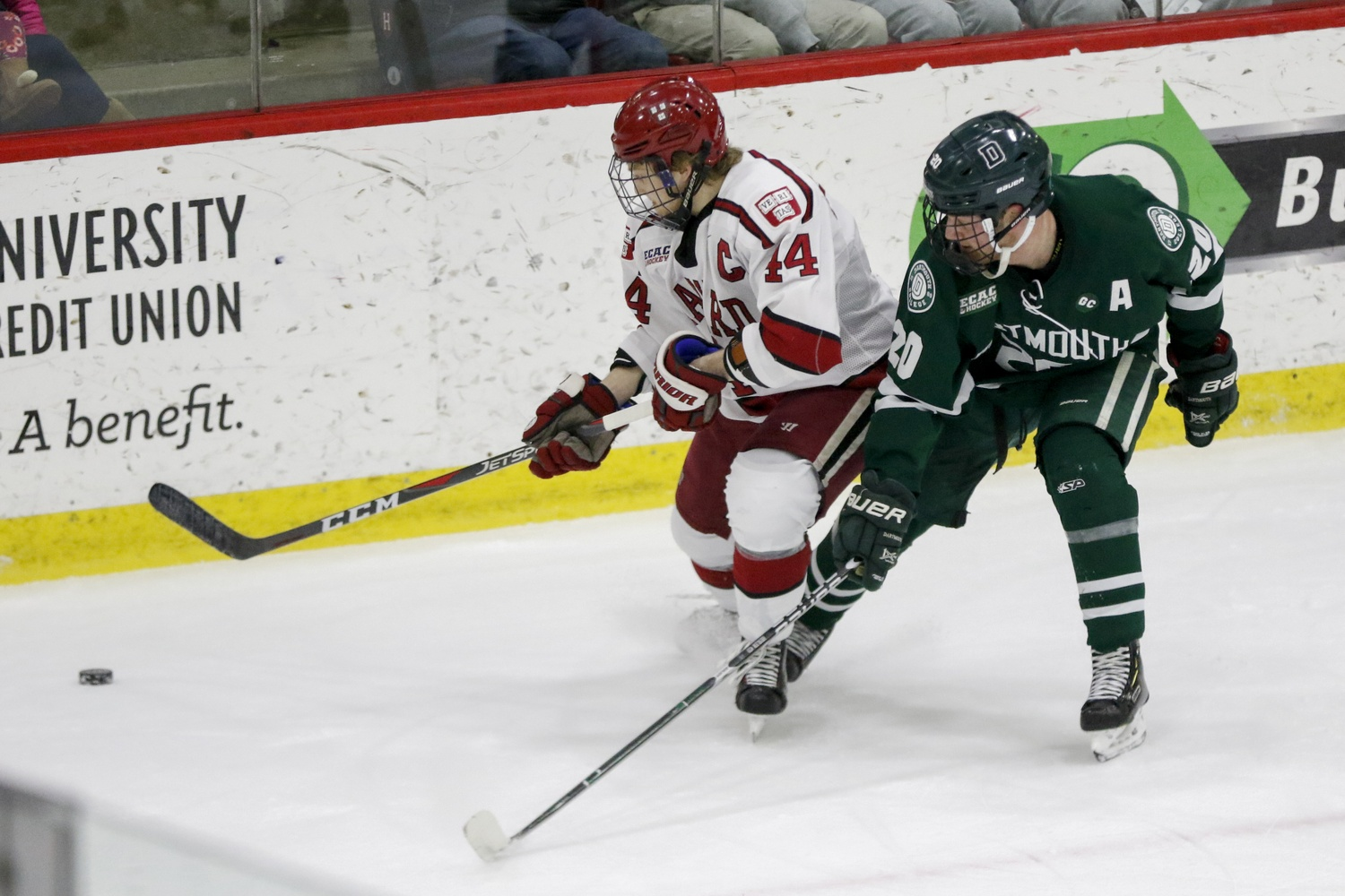 Co-captains Floodstrand and Zerter-Gossage provided the Crimson's crucial goals on Friday. The pair have scored in the same game three times so far this season.