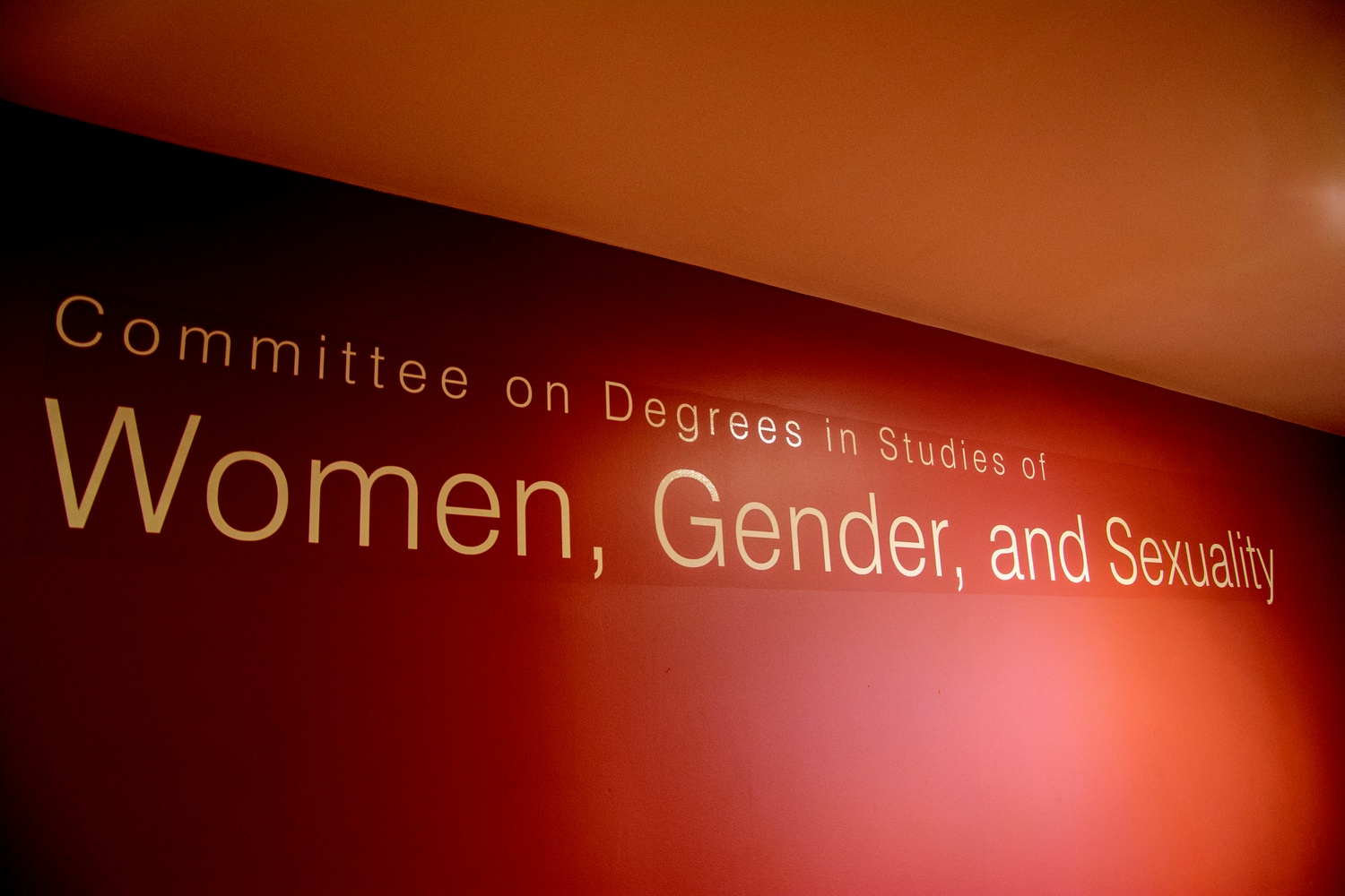 The Women, Gender, and Sexuality Studies committee offices in the basement of Boylston Hall.