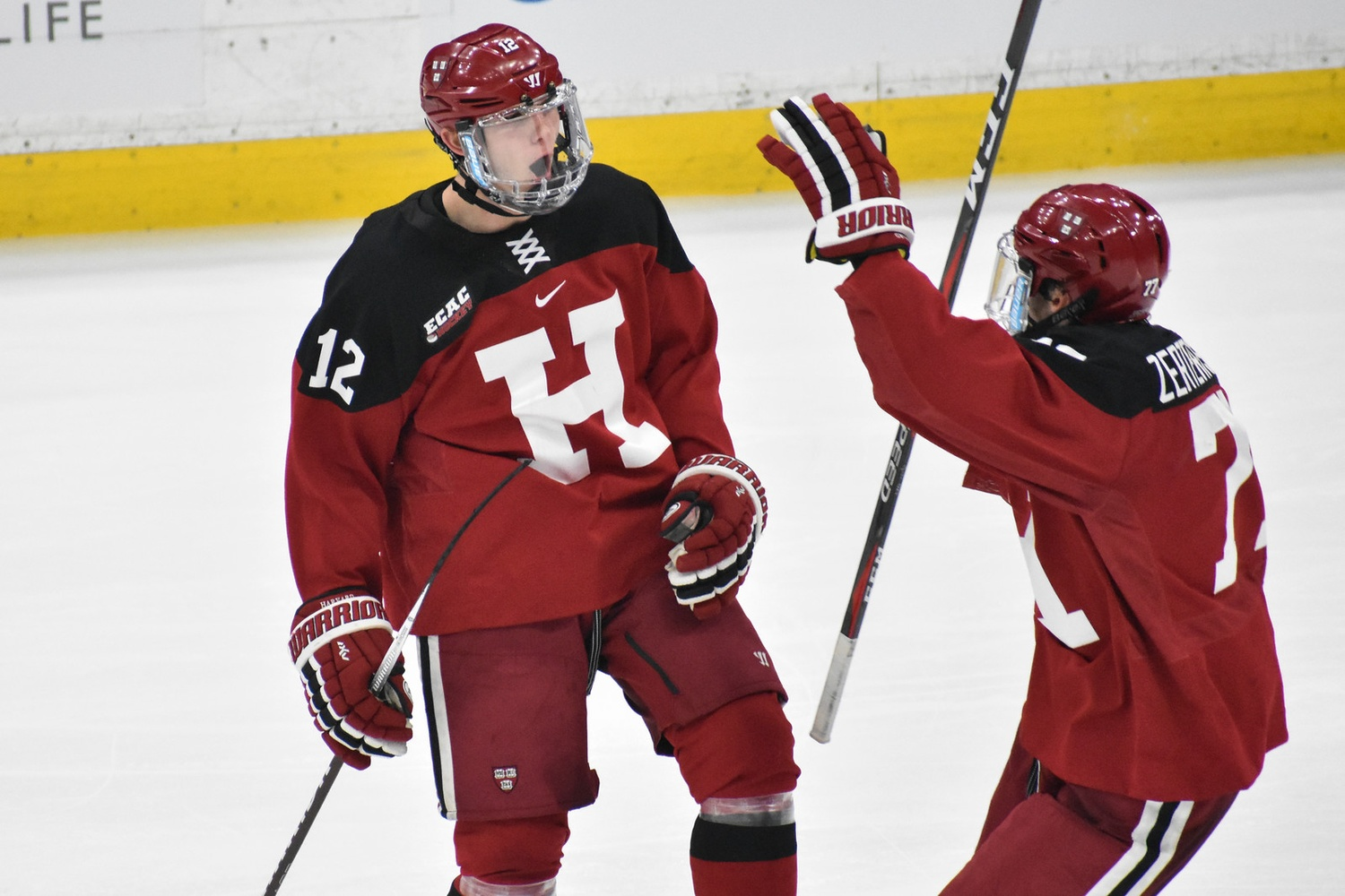 Late in the second period, John Marino's nifty display of offensive talent set up the Crimson's only goal of the game, courtesy of Henry Bowlby.