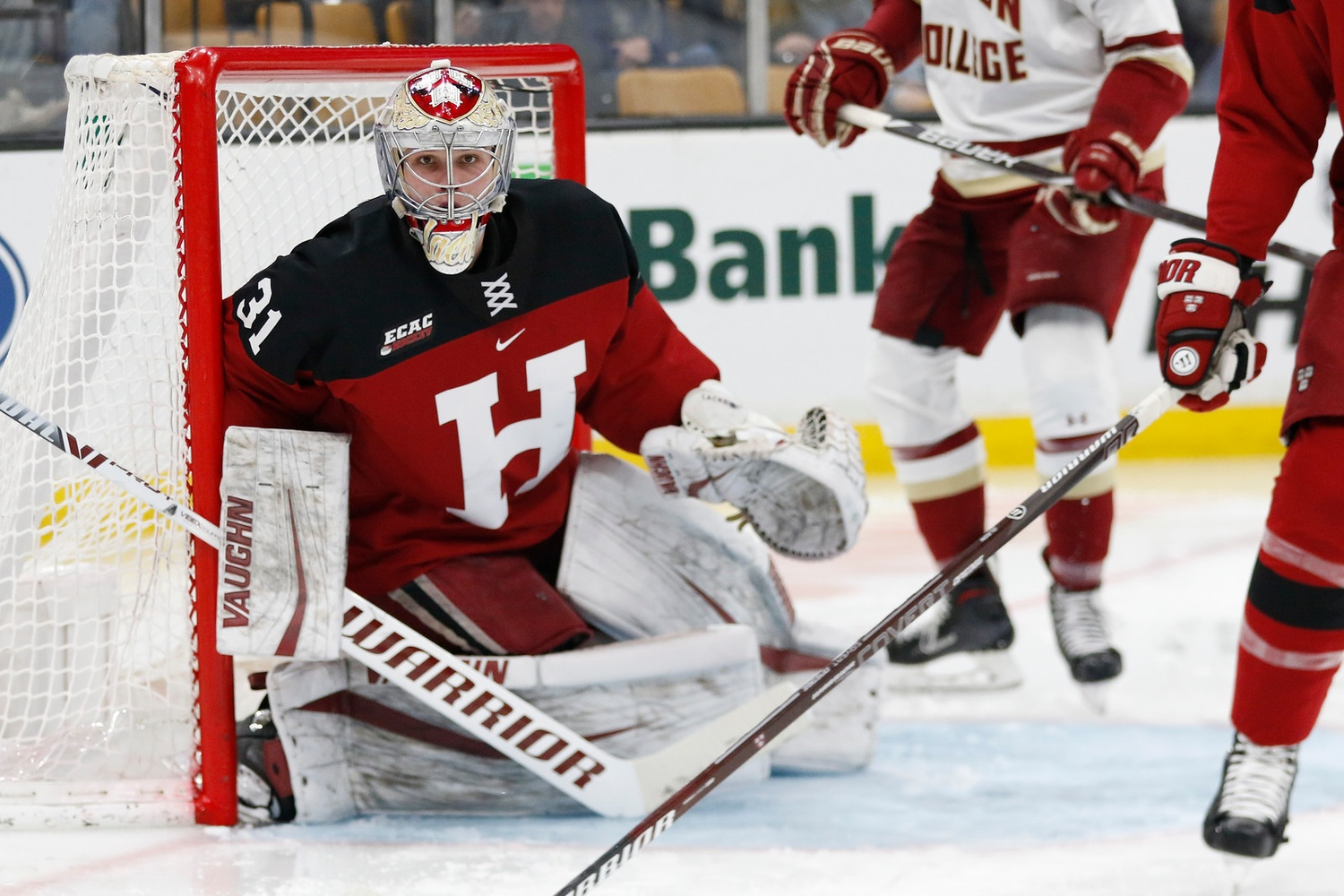 Despite the loss, Crimson net-minder Michael Lackey continued his stretch of confident backstopping. The senior will be key to Harvard's success down the stretch of the season.
