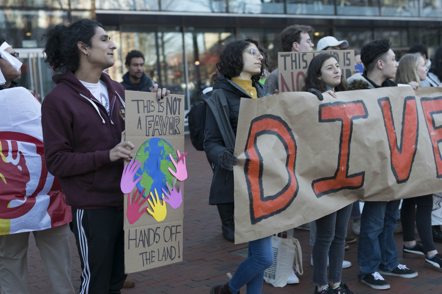 "The Divest rally was a part of a three-day campaign called ""Land Under Siege."""