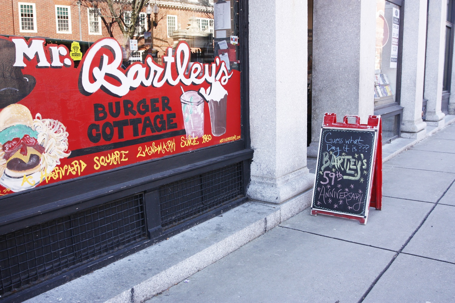 The exterior of Mr. Bartley's Burger Cottage.