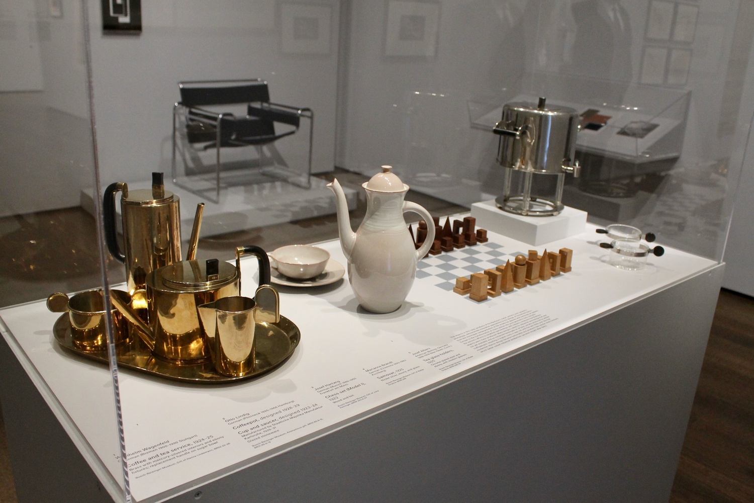 Bauhaus-inspired household objects at the Harvard Art Museums.