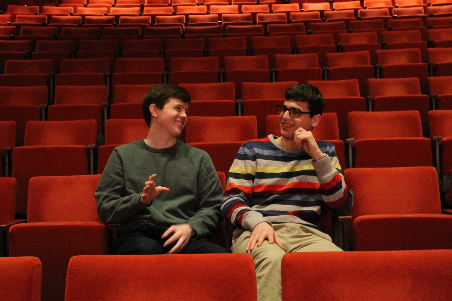 "This year's Hasty Pudding book writers, Michael Perusse ('20) and Max Weiss ('20), talk about their favorite lines from ""France France Revolution."""