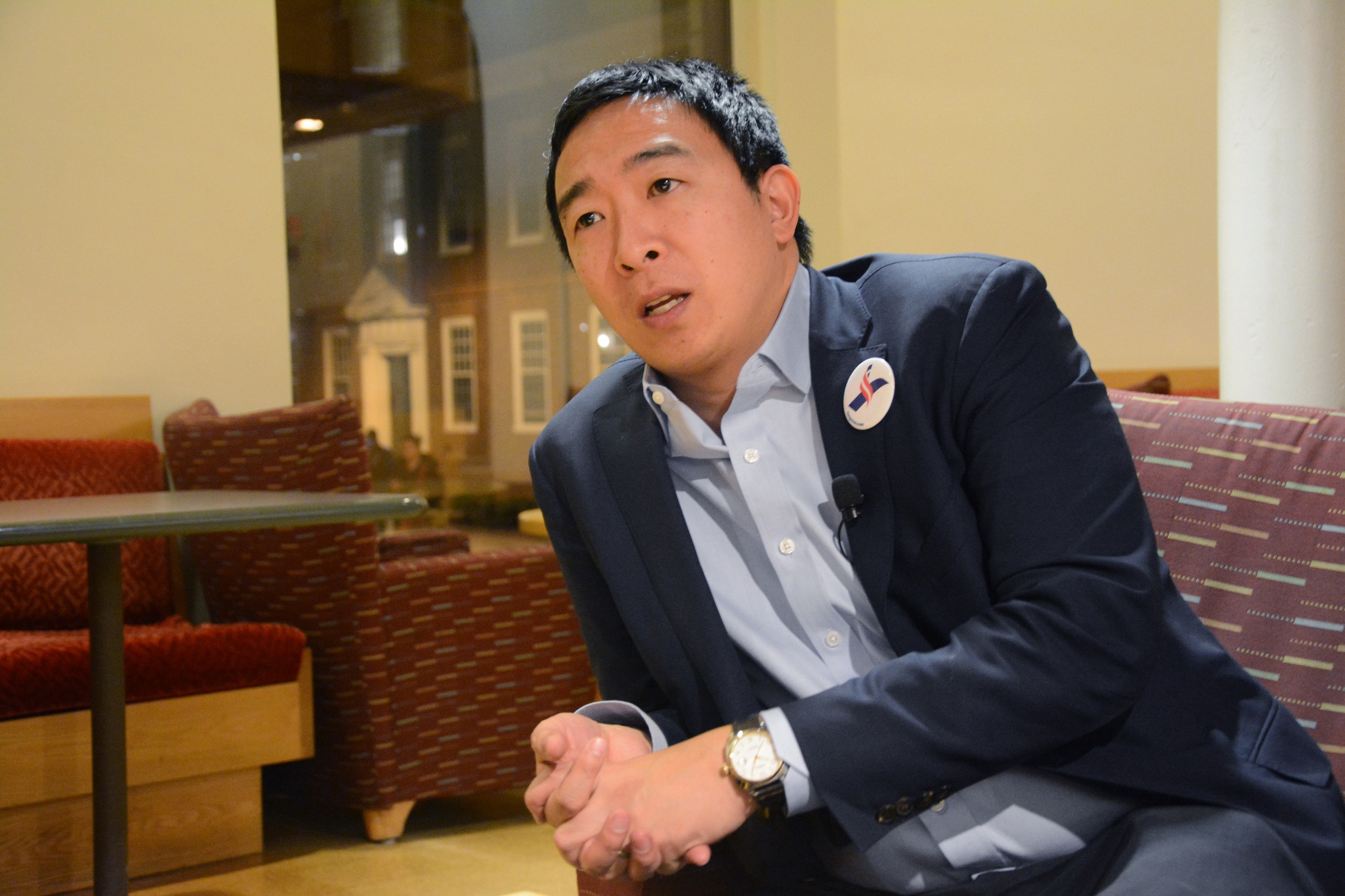 Andrew Yang is one of the contenders for the 2020 Democratic primary nomination.