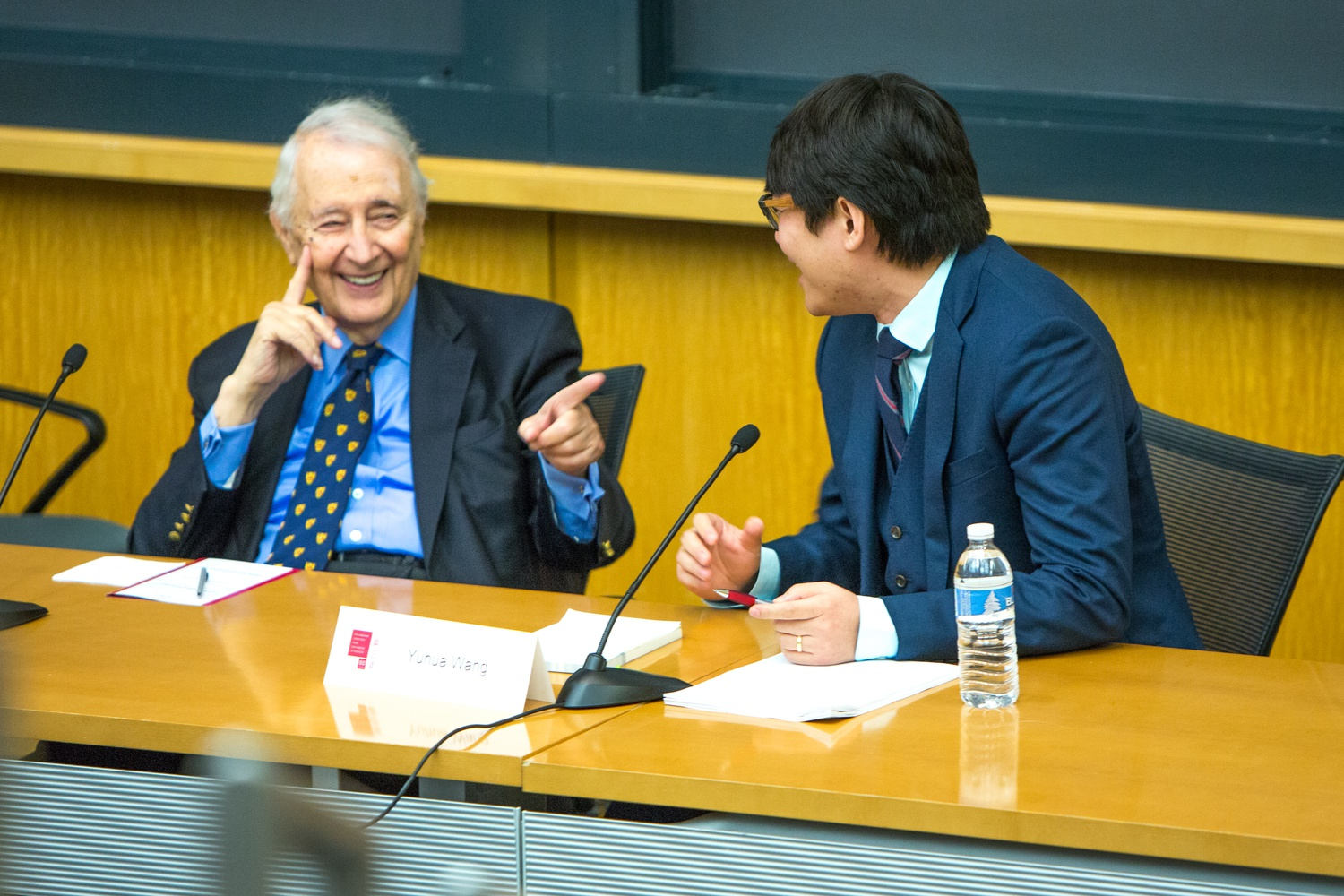 Professor Emeritus Roderick L. MacFarquhar at the Fairbank Center for Chinese Studies 60th anniversary conference in 2016.
