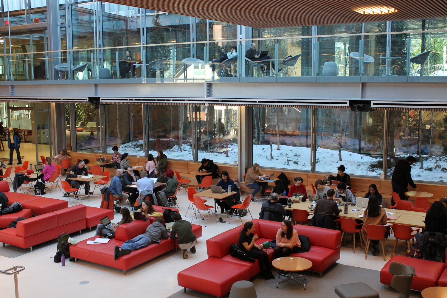 The Smith Campus Center has policies that prohibit individuals from sleeping in its common spaces.