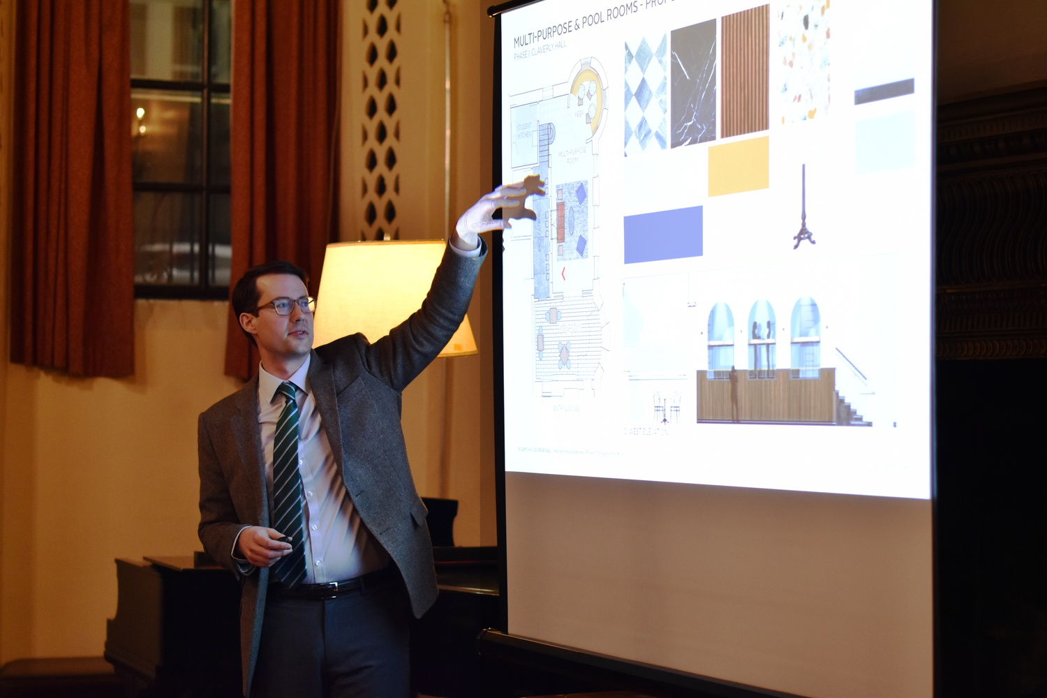 Plans for Adams House renewal and its timeline were shared with students and other residents Tuesday evening.