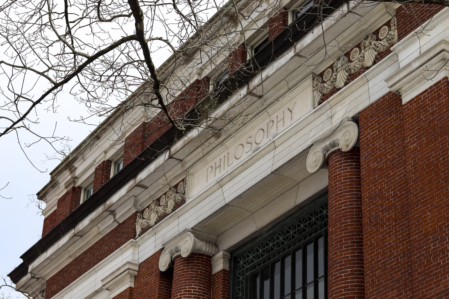 Emerson Hall in Harvard Yard is the home of the Philosophy Department.