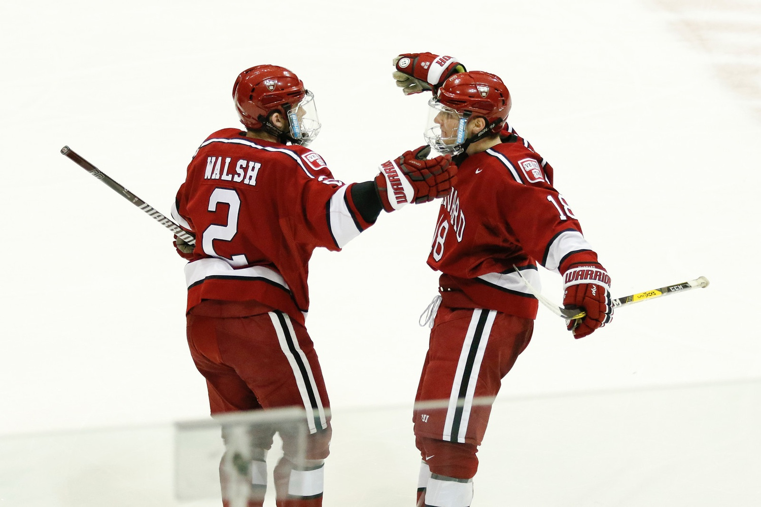 Sophomore defenseman Reilly Walsh nabbed another powerplay one-timer on Friday, displaying the Crimson's man-up prowess alongside junior blue-liner Adam Fox.