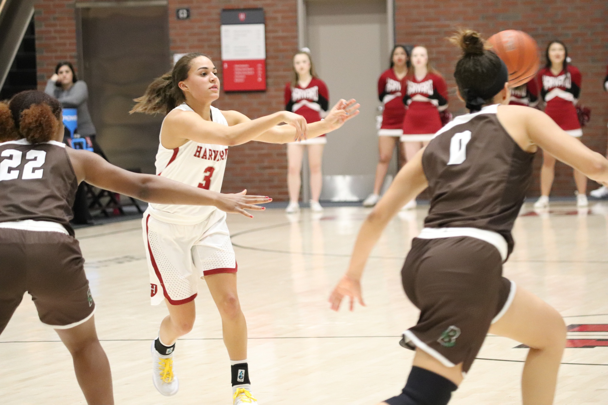 Katie Benzan surpassed Erin Maher '93's record for career three-pointers, knocking down her 262nd trey early in the third quarter.