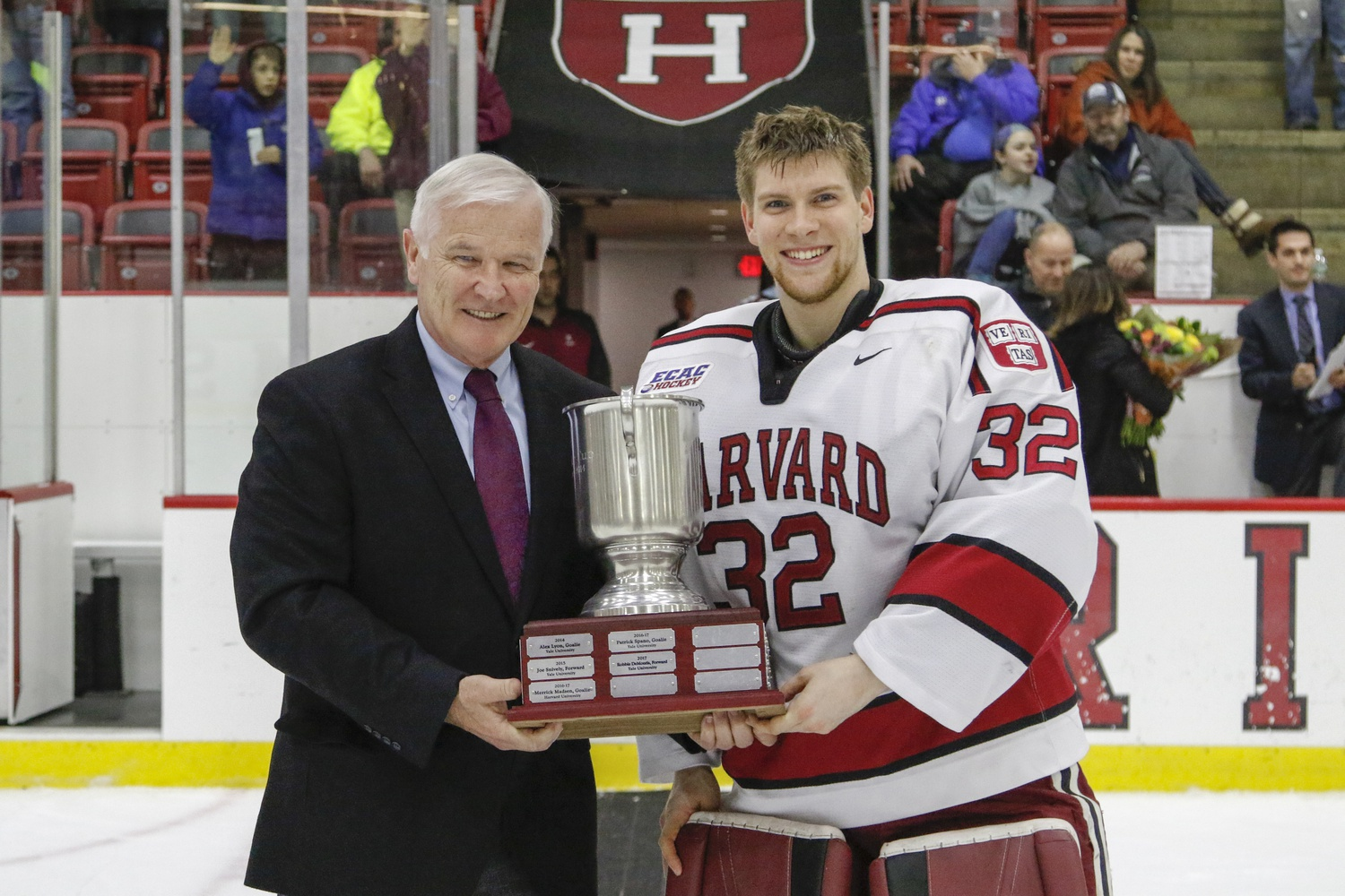 Gornet's performance won him the Tim Taylor Cup, named for the late Tim Taylor '63, who played for the Crimson and went on to coach the Bulldogs.