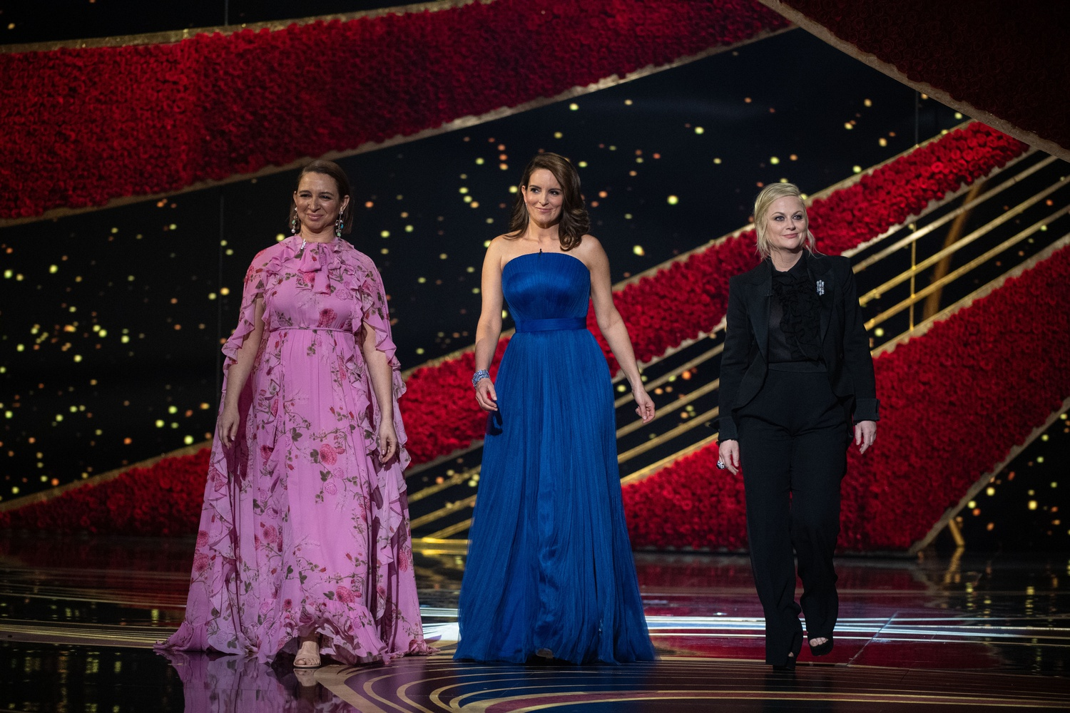 Maya Rudolph, Tina Fey and Amy Poehler present during The 91st Oscars on Feb. 24.