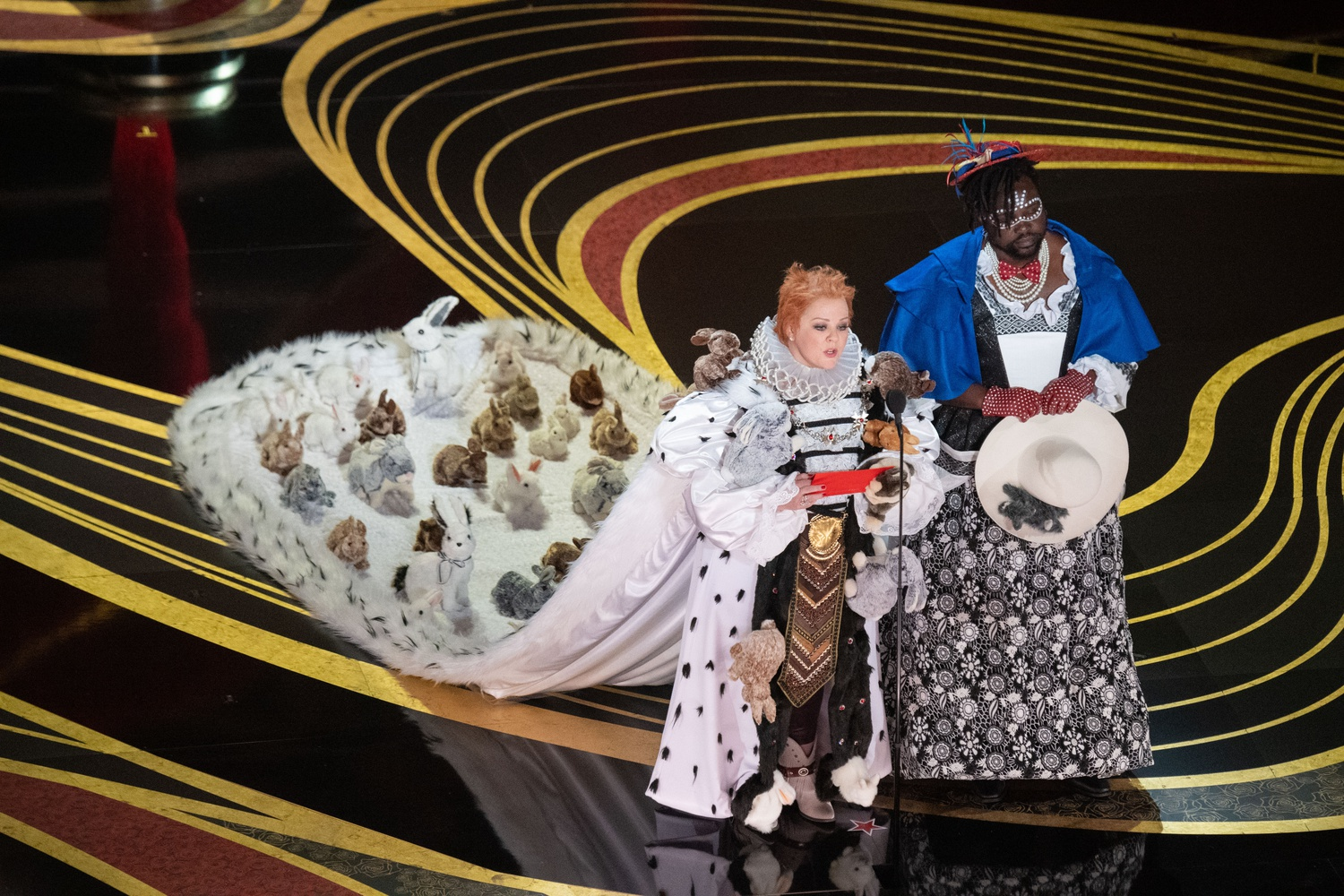 Melissa McCarthy and Brian Tyree Henry present the Oscar® for achievement in costume design on Feb. 24.