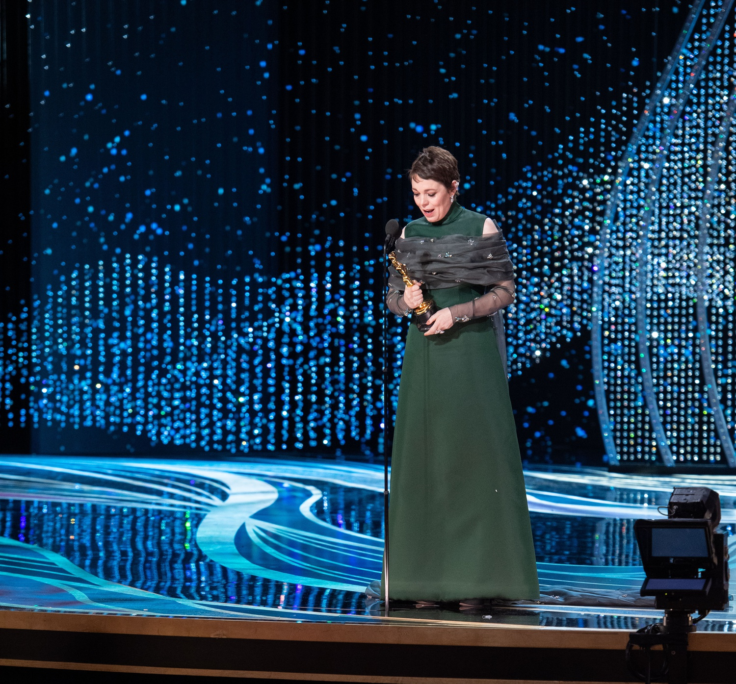 Olivia Colman accepts the Oscar® for performance by an actress in a leading role during the live ABC Telecast of the 91st Oscars®.