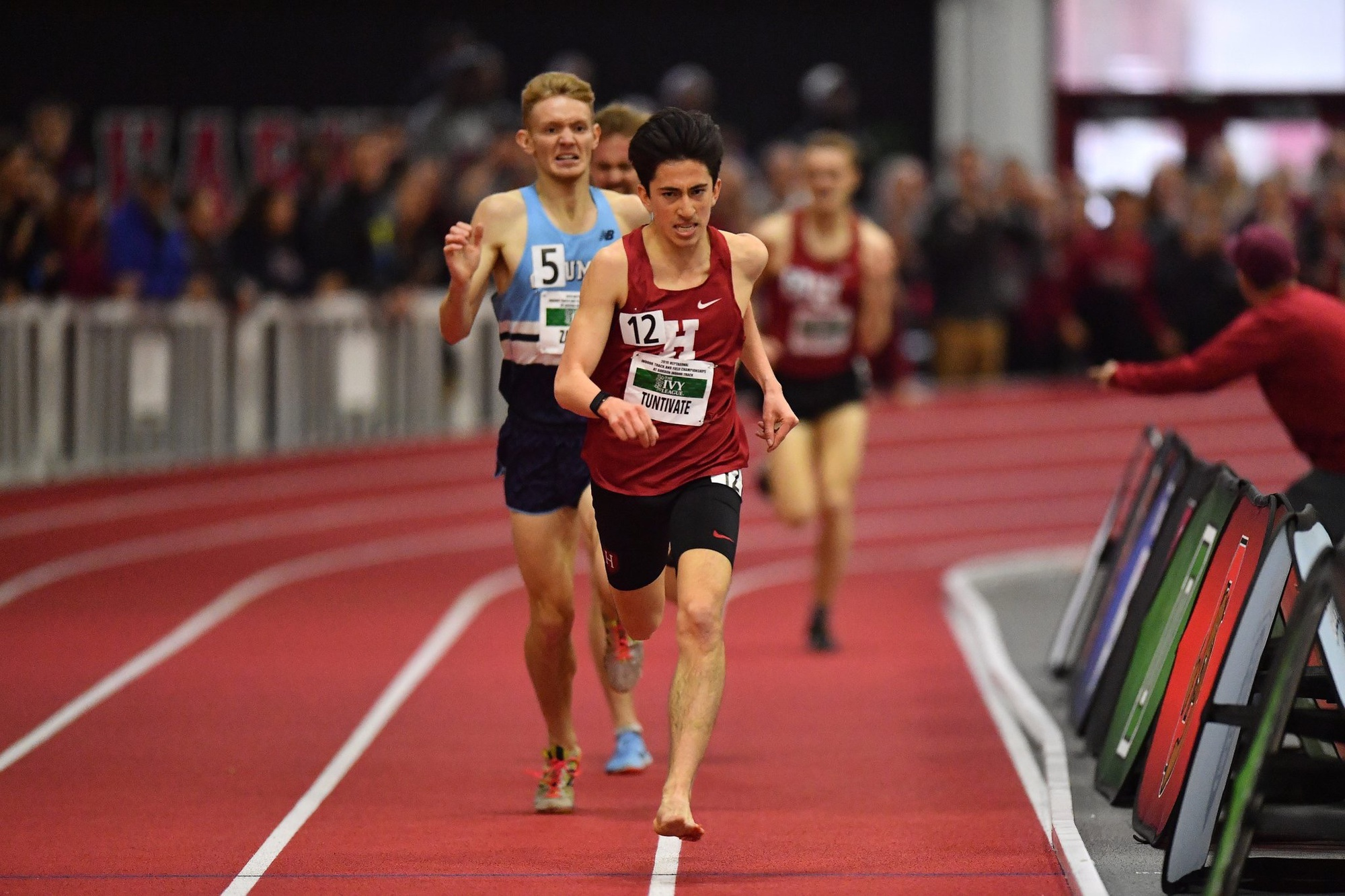 Senior Kieran Tuntivate emerged victorious in both the 3K and 5K races. The 3K win was achieved with one shoe for much of the race.