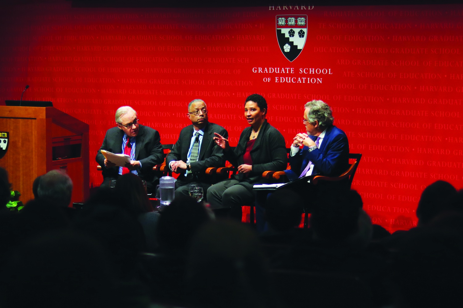 Danielle S. Allen remarked on ways to improve social inequality through a focus on civic education Wednesday evening during a Harvard Graduate School of Education's Askwith Forum event. The panel was a conversation about poverty, inequality, and racial injustice in the U.S.