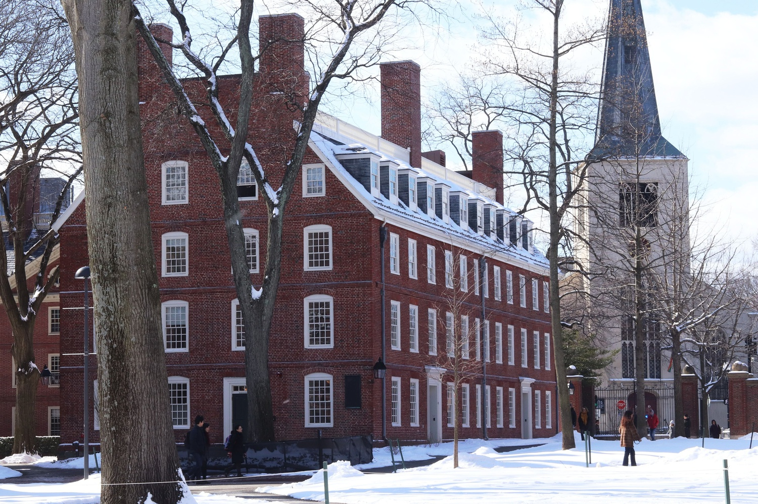 Massachusetts Hall, which sits in Harvard Yard, houses the office of University President Lawrence S. Bacow.