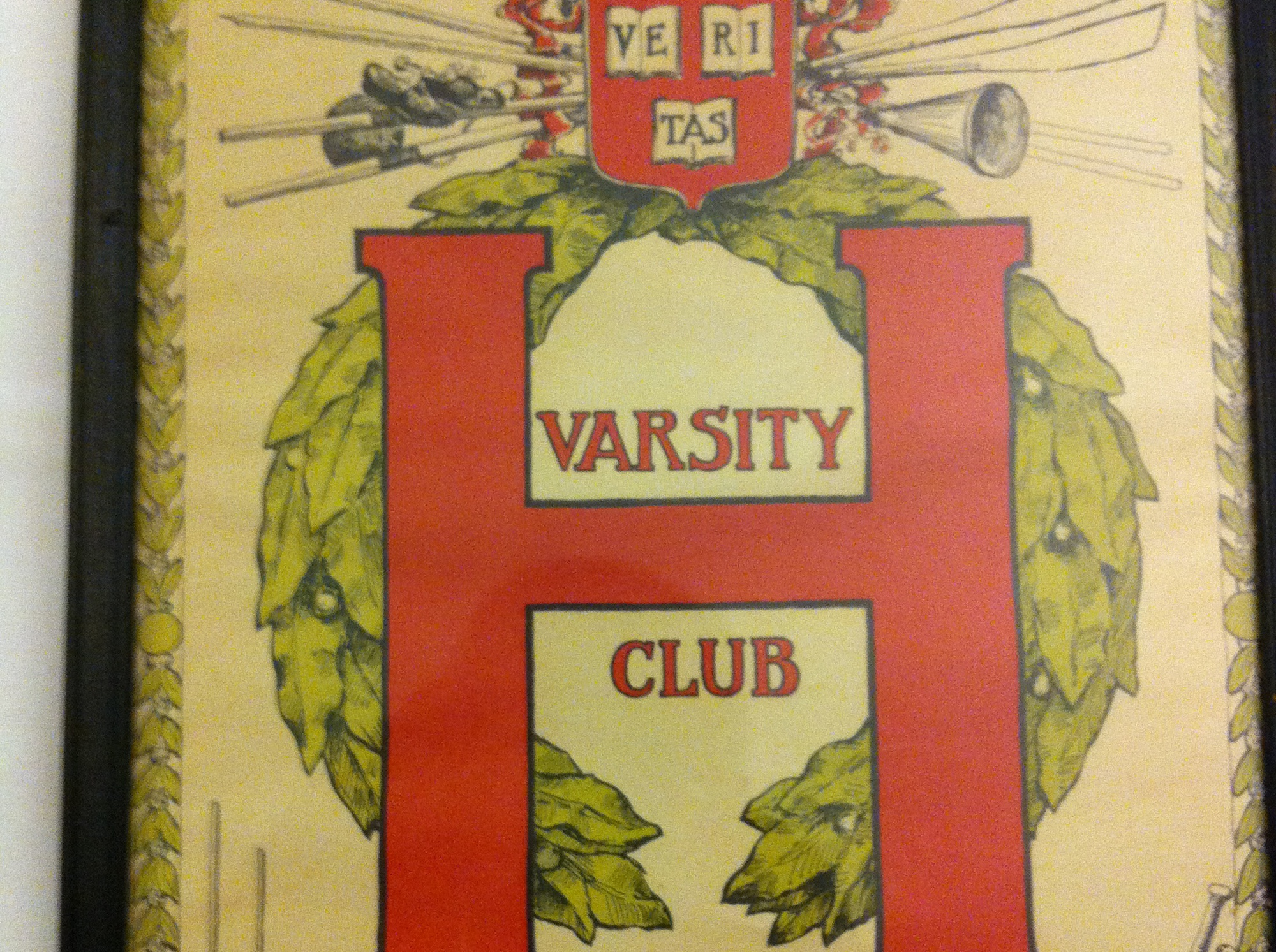 John Clark earned his member to the Harvard Varsity Club in 1948, with this certificate.