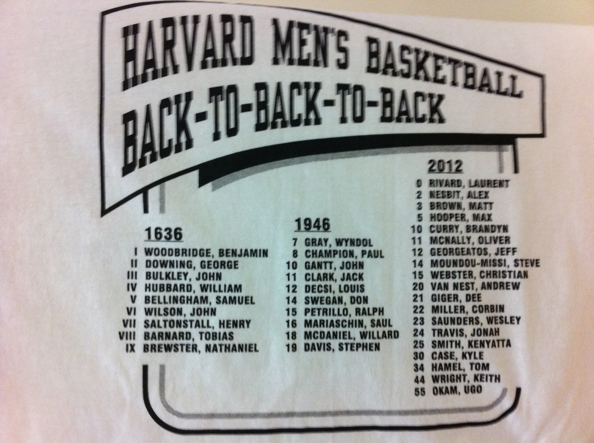 After the Crimson's berth in the 2012 NCAA Tournament, facetious t-shirts were made to commemorate the moment.