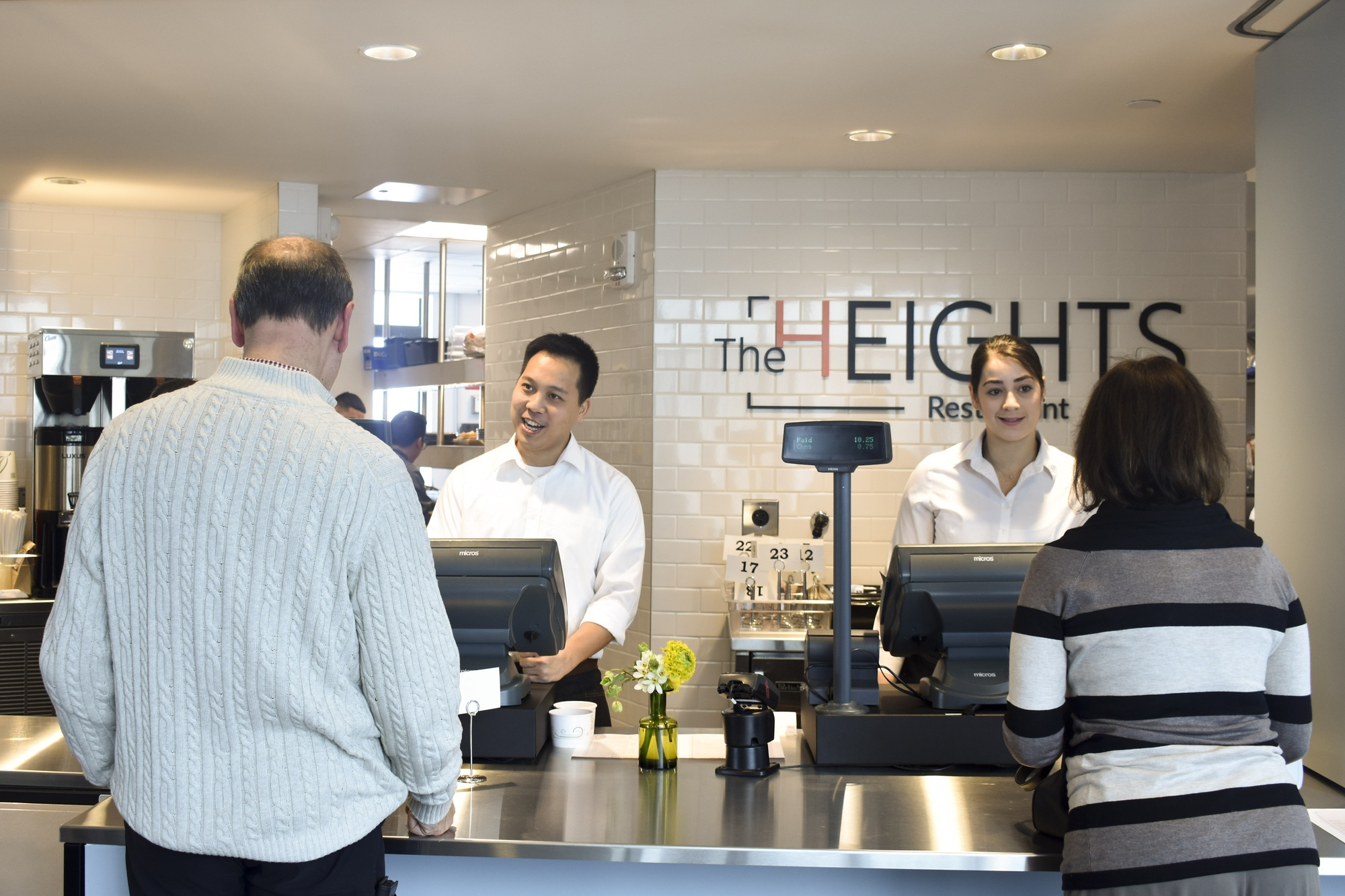 The Heights Restaurant opened on the tenth floor of the Smith Campus Center on Monday.