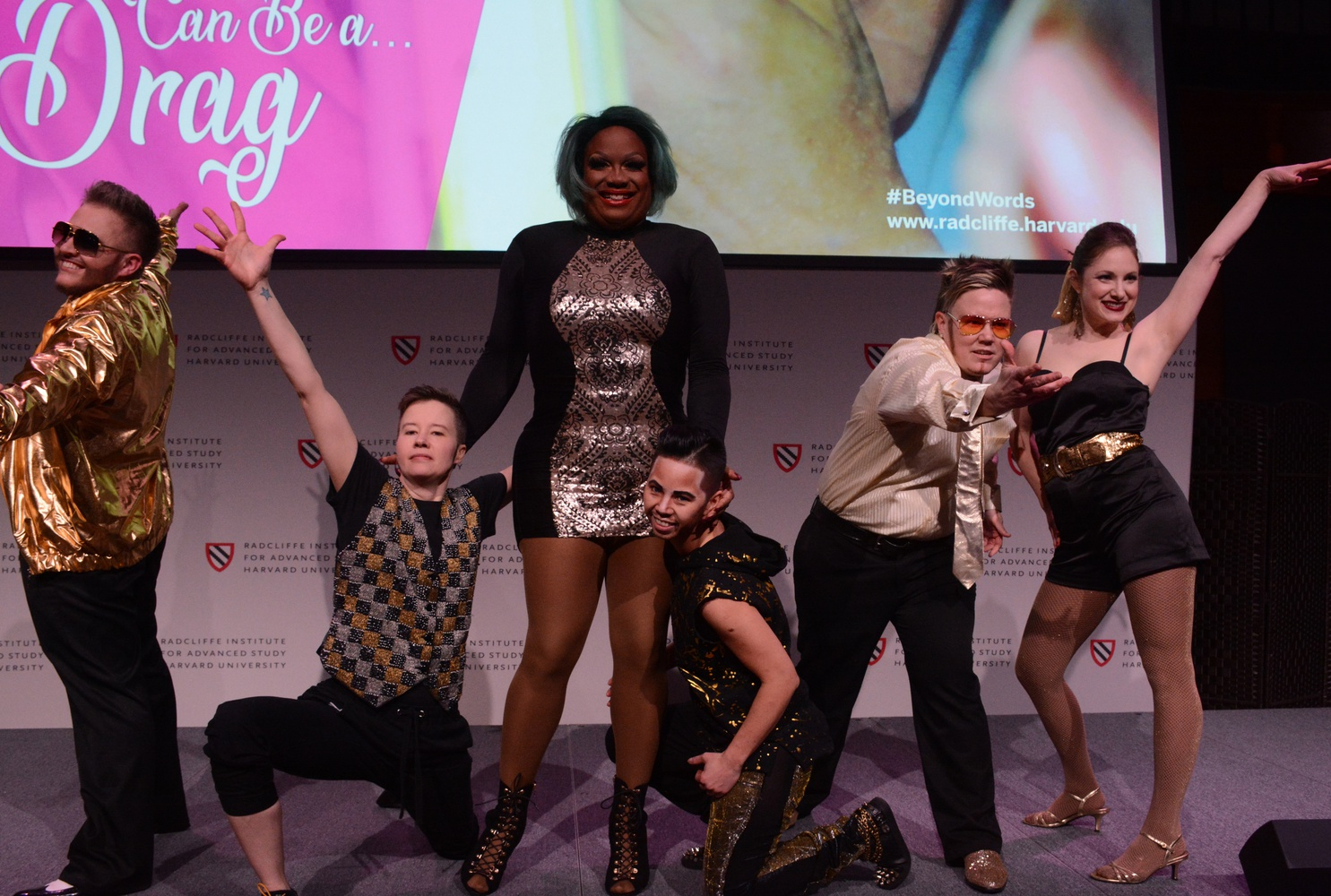 """Drag performers from the award-winning documentary, """"Kings, Queens, & In-Betweens,"""" put on a show in the Knafel Center."""