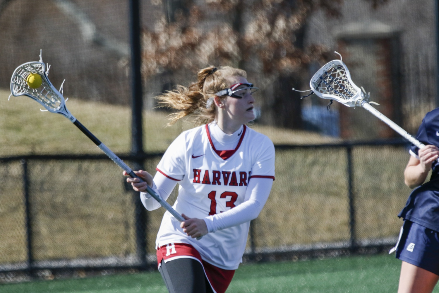 Senior attacker Keeley MacAfee notched her 100th career goal in a contest against UNH