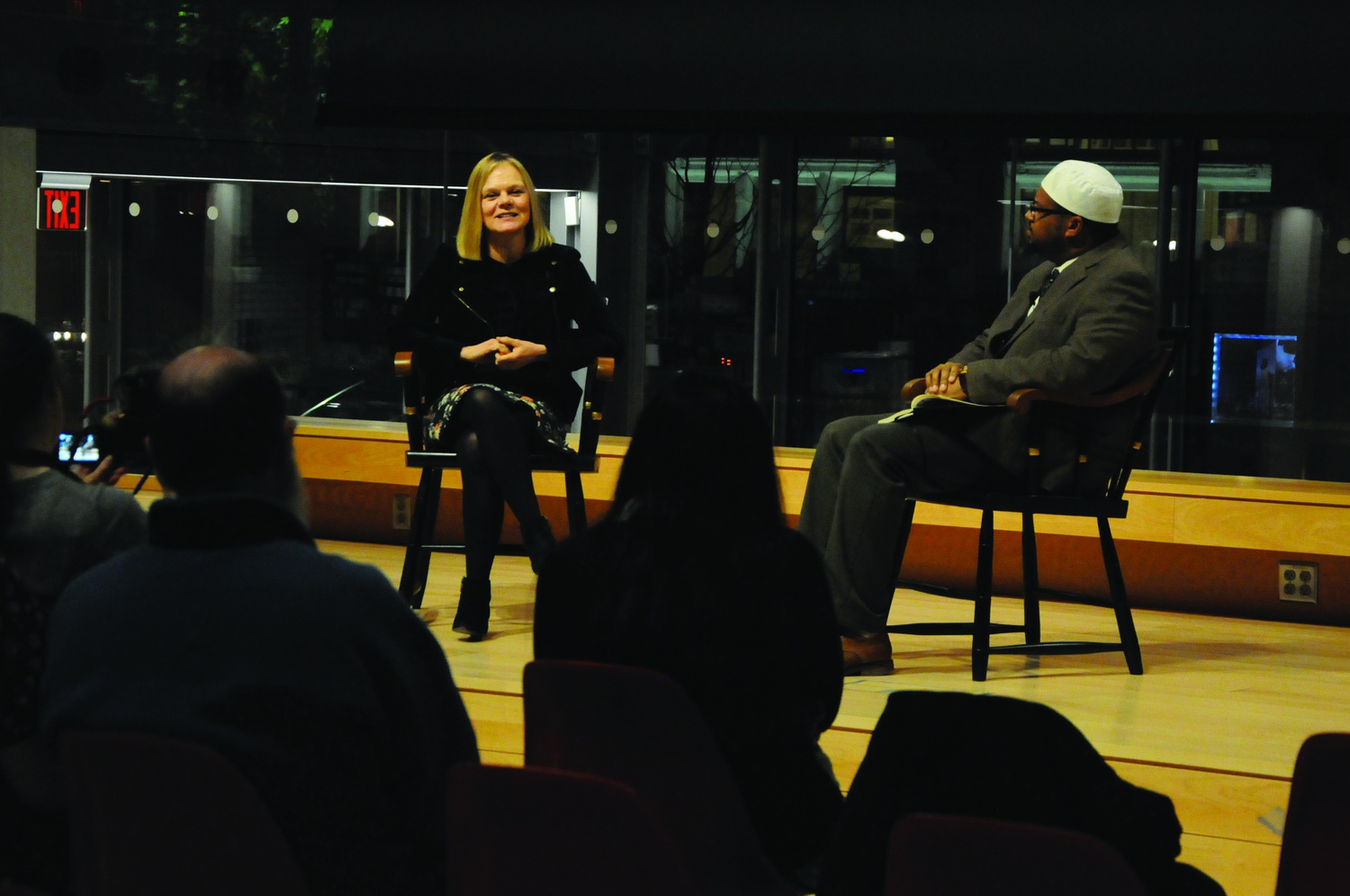 Abdur-Rashid on Wednesday night. The talk is a part of Life Matters, a series that allows students to listen to esteemed Harvard affiliates talk about their life trajectory.