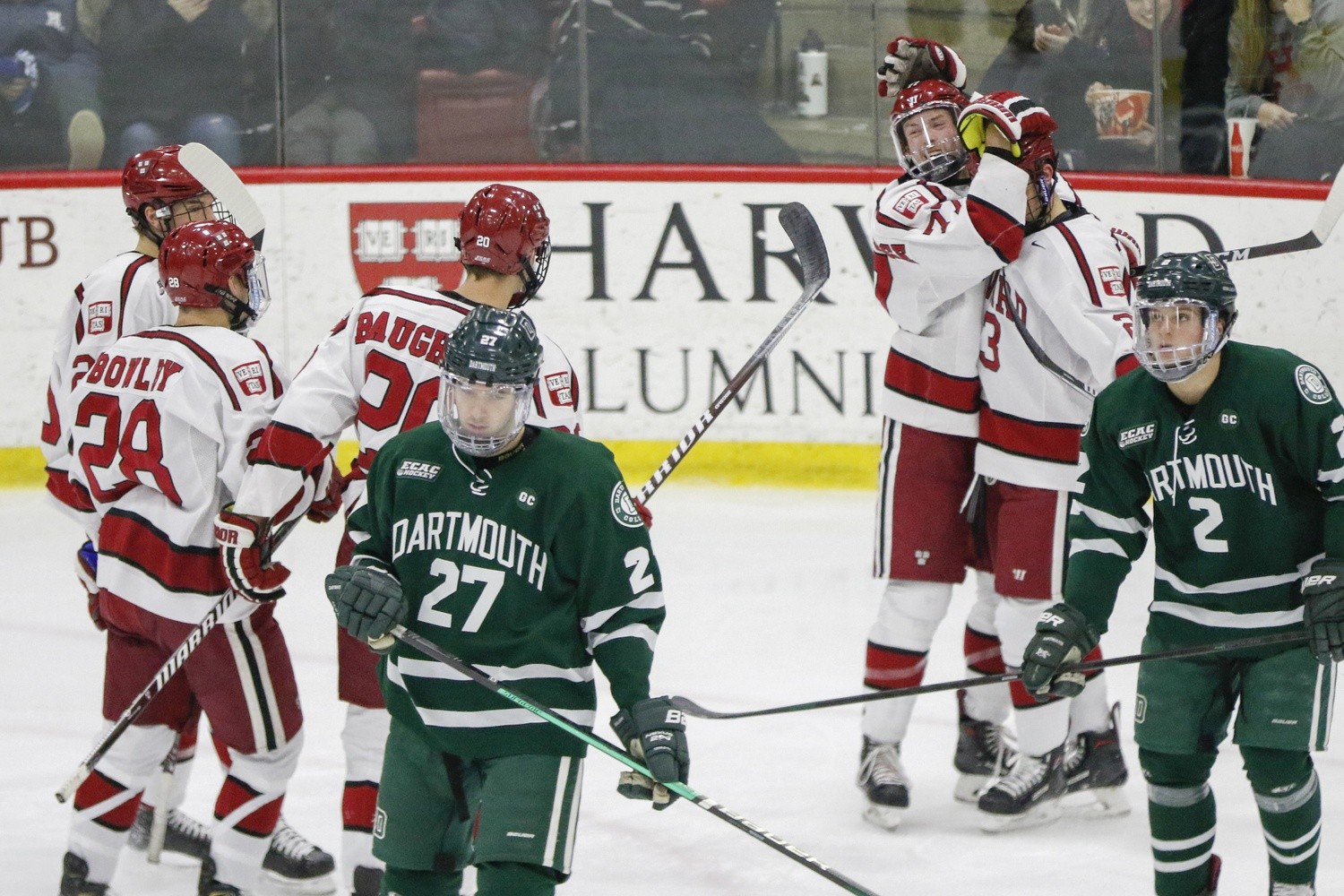 Last year, the Crimson beat the Big Green in a three-game series to advance to Lake Placid.