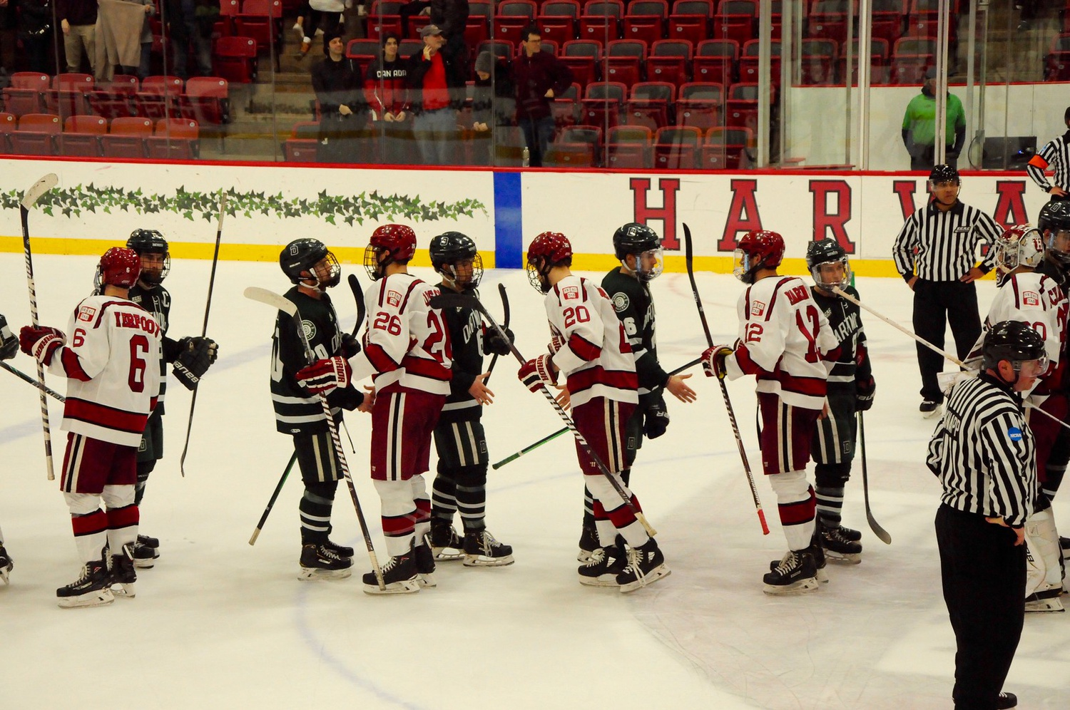 For the second straight season, the Crimson has ended the Big Green's season, contributing to a budding rivalry in the ECAC.