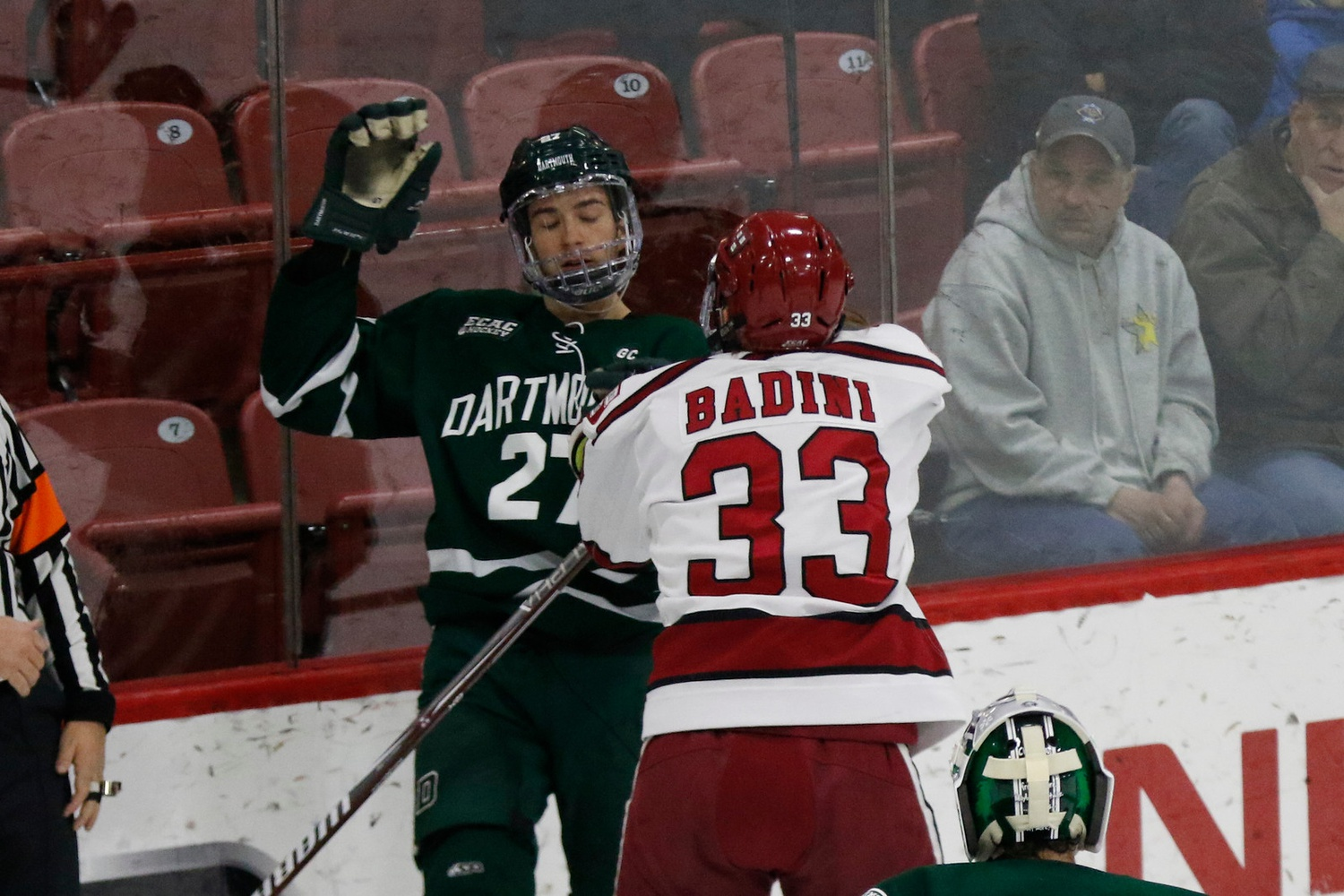 After last year's ECAC quarterfinal clash, tensions were high in all four meetings between the Crimson and the Big Green this season.