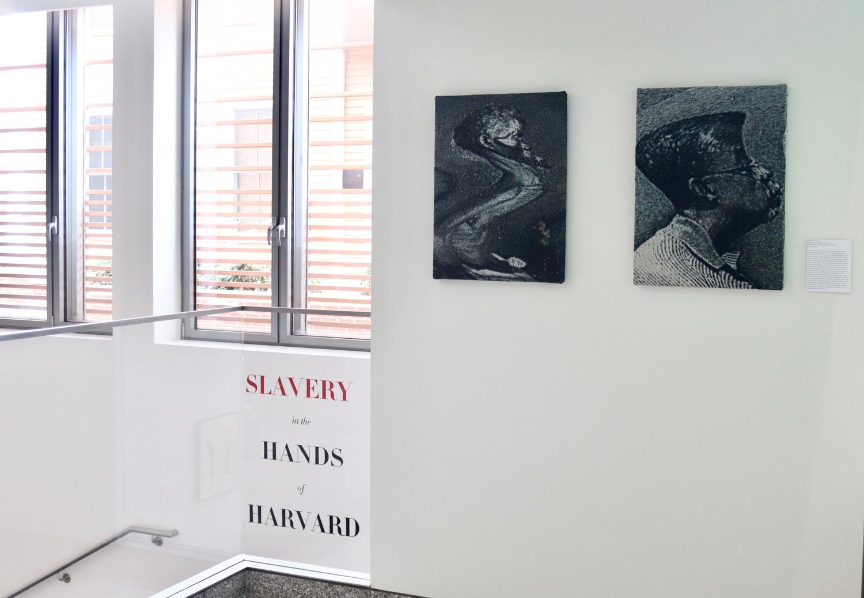 An exhibit in CGIS Knafel last spring included artist Noel W. Anderson's diptych Renty